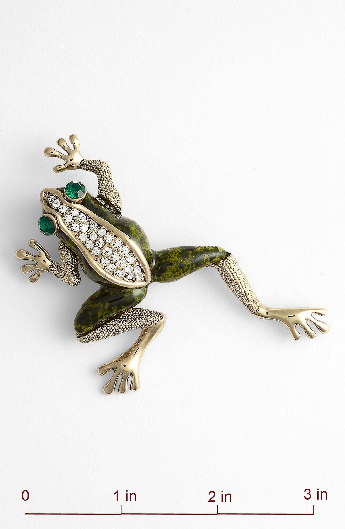 Alternate Image 2  - Tasha 'Critters' Frog Brooch