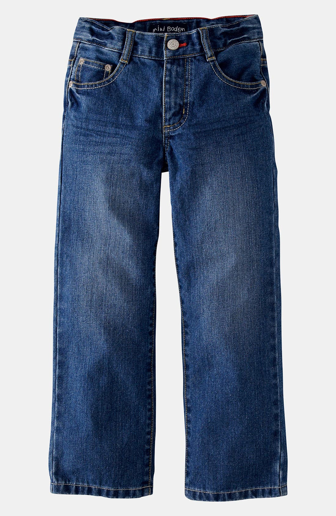 Alternate Image 1 Selected - Mini Boden Regular Fit Jeans (Toddler)