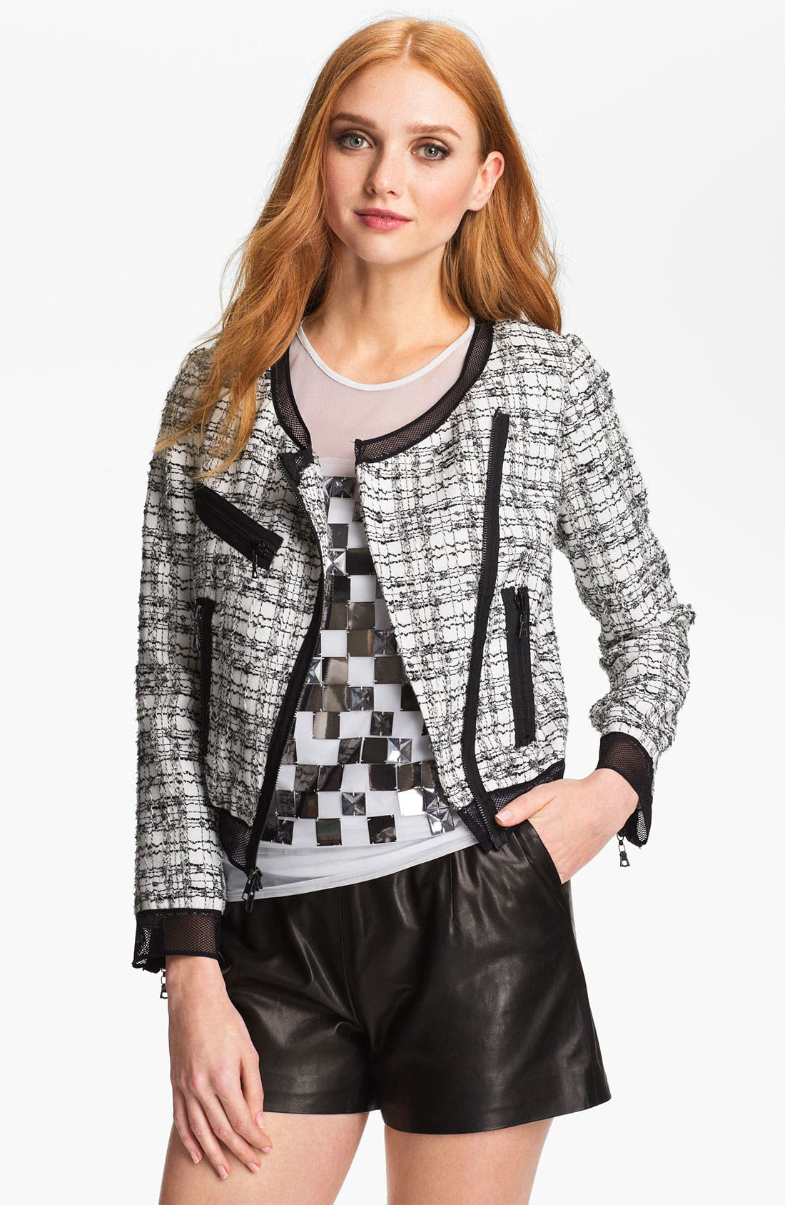 Alternate Image 1 Selected - Milly Crop Moto Jacket