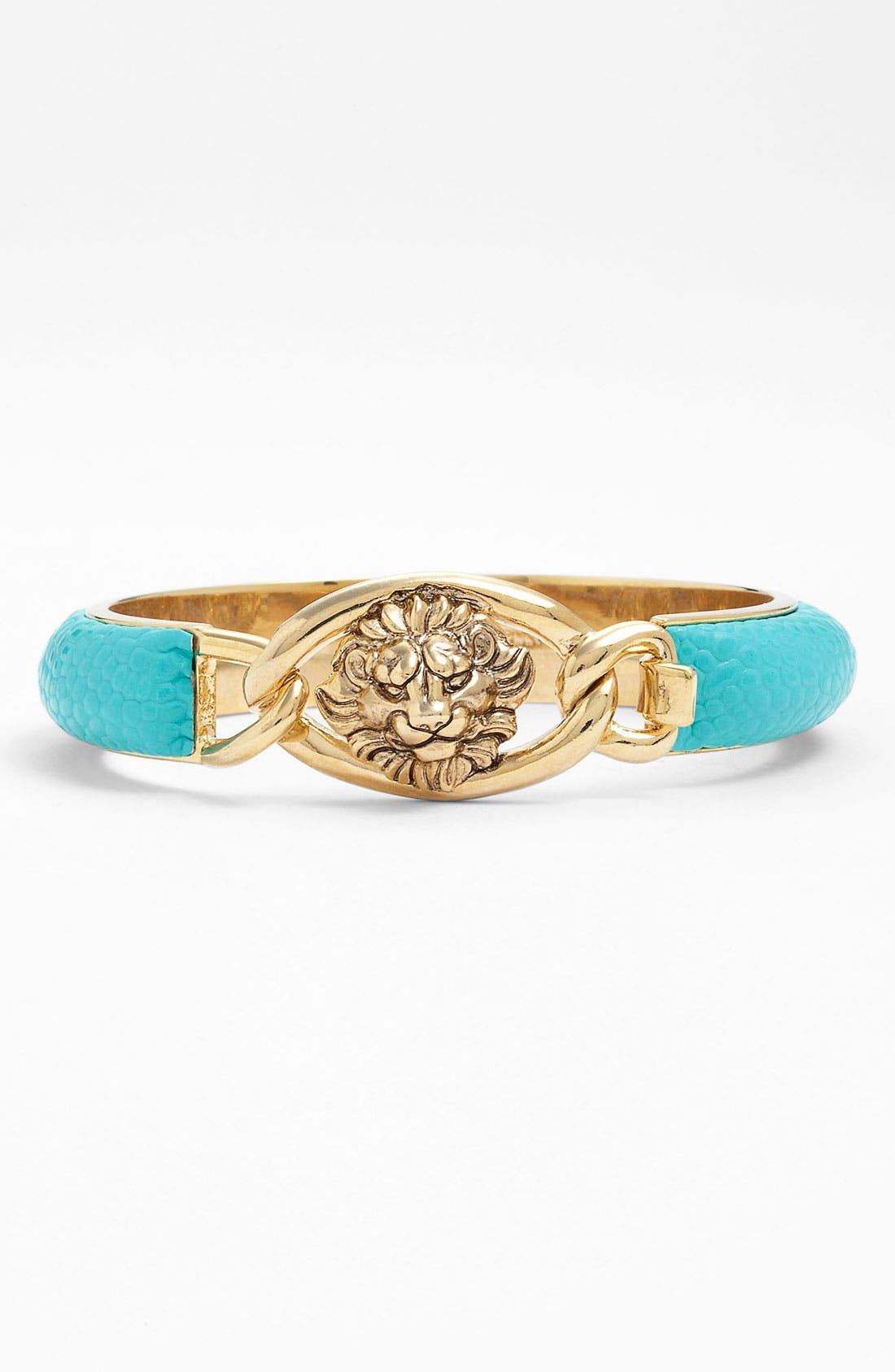 Alternate Image 1 Selected - Anne Klein 'Wild Side' Wide Leather Lionhead Bangle