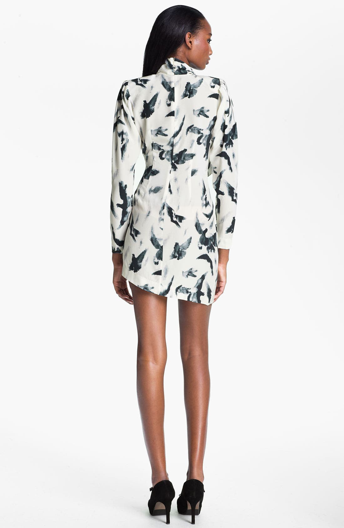 Alternate Image 2  - Skaist-Taylor 'Tippi' Print Asymmetrical Hem Silk Dress