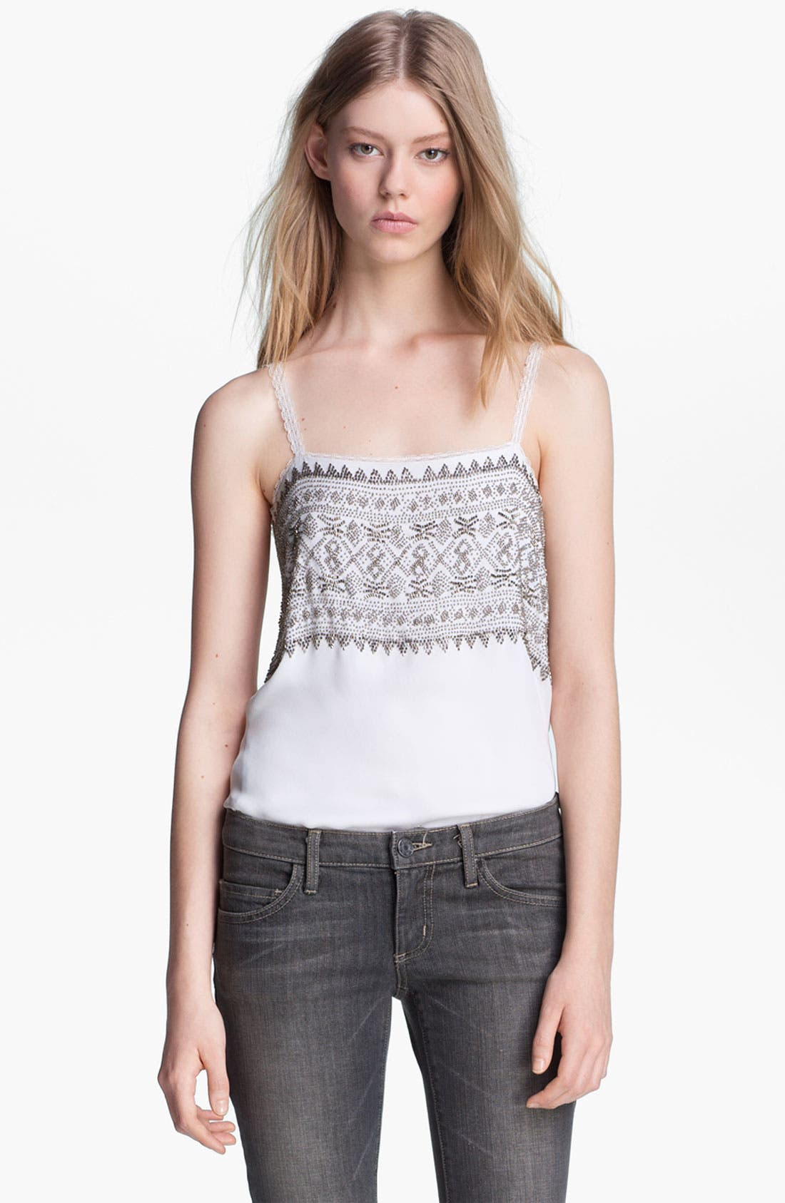Alternate Image 2  - L'AGENCE Beaded Camisole