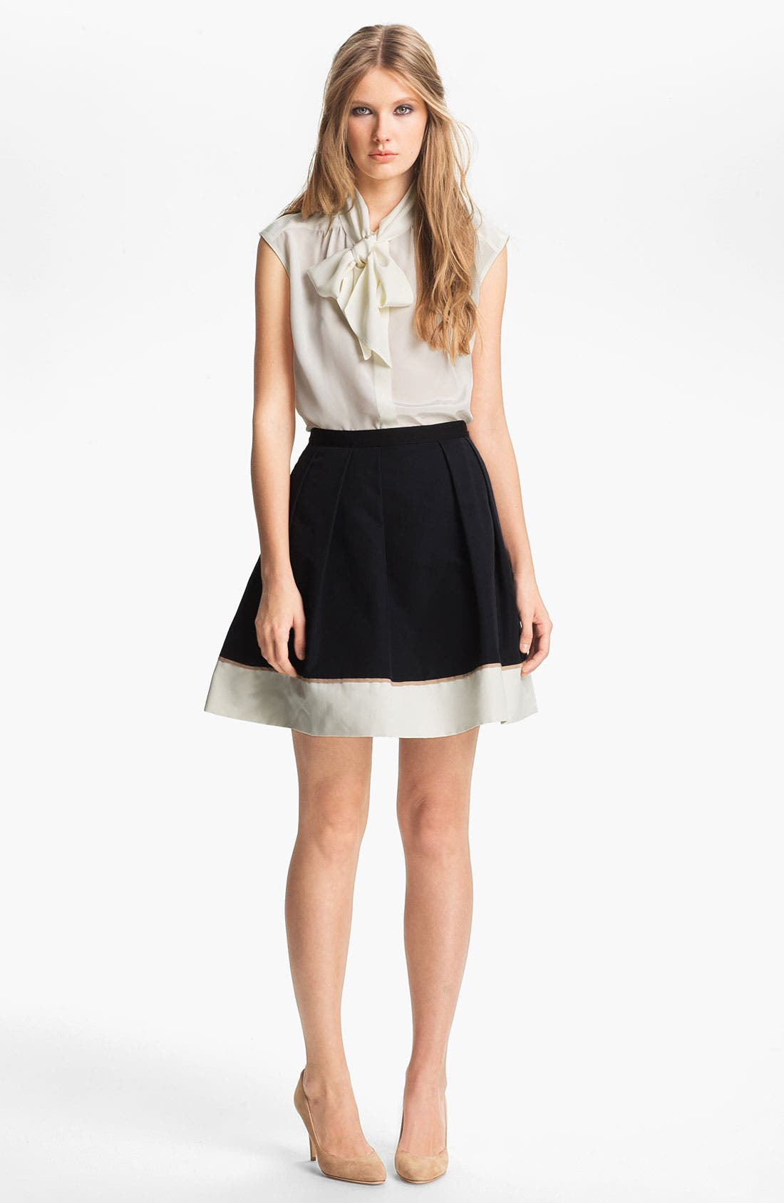 Alternate Image 3  - Miss Wu Hem Detail Faille Skirt (Nordstrom Exclusive)