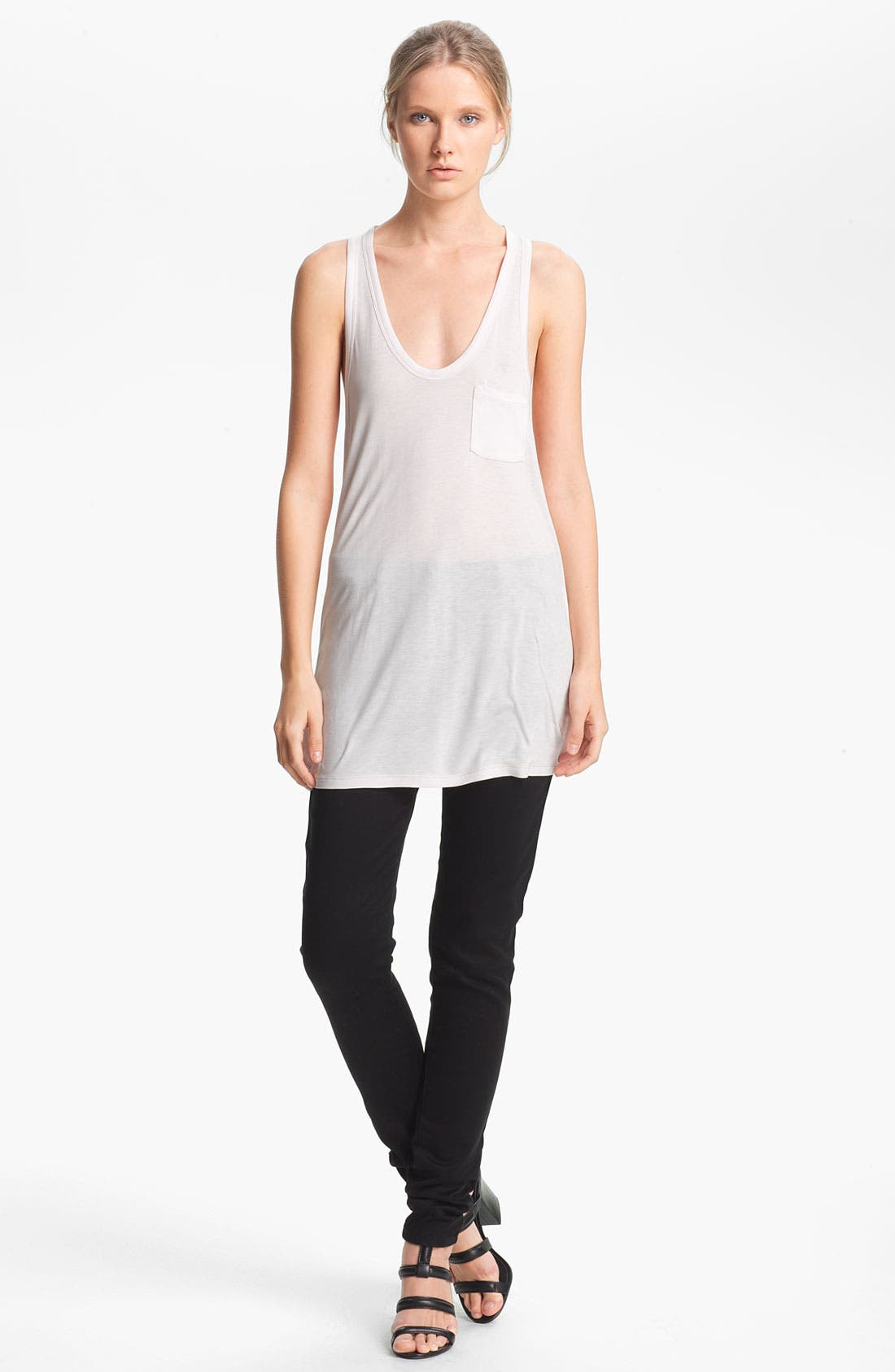 Alternate Image 1 Selected - T by Alexander Wang Classic Pocket Tank