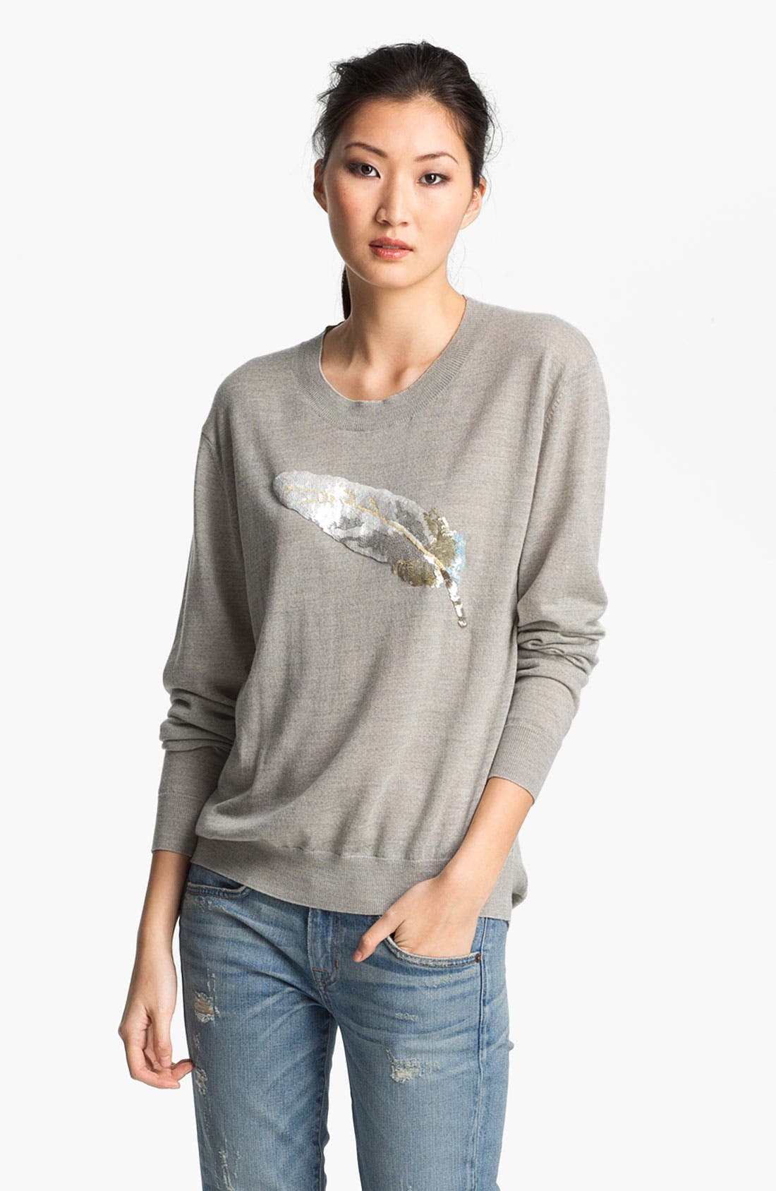 Alternate Image 2  - Markus Lupfer Sequin Feather Sweater