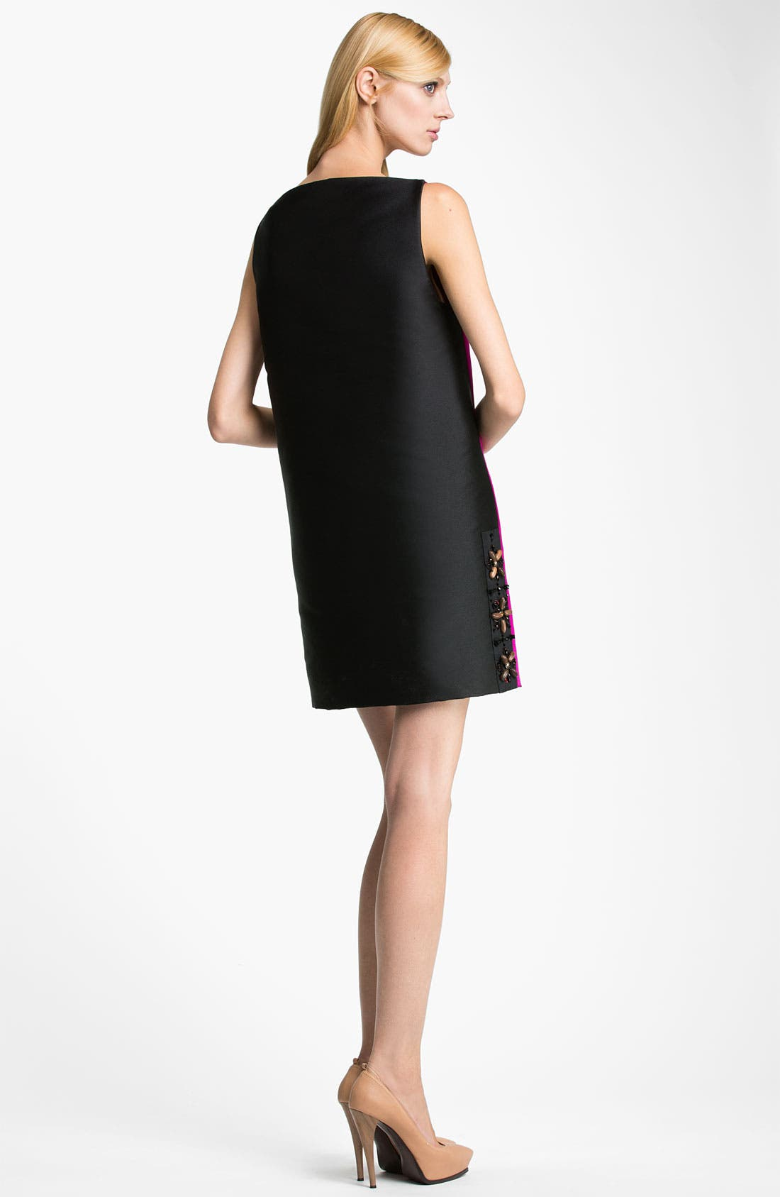 Alternate Image 2  - Lanvin Bicolor Silk Dress