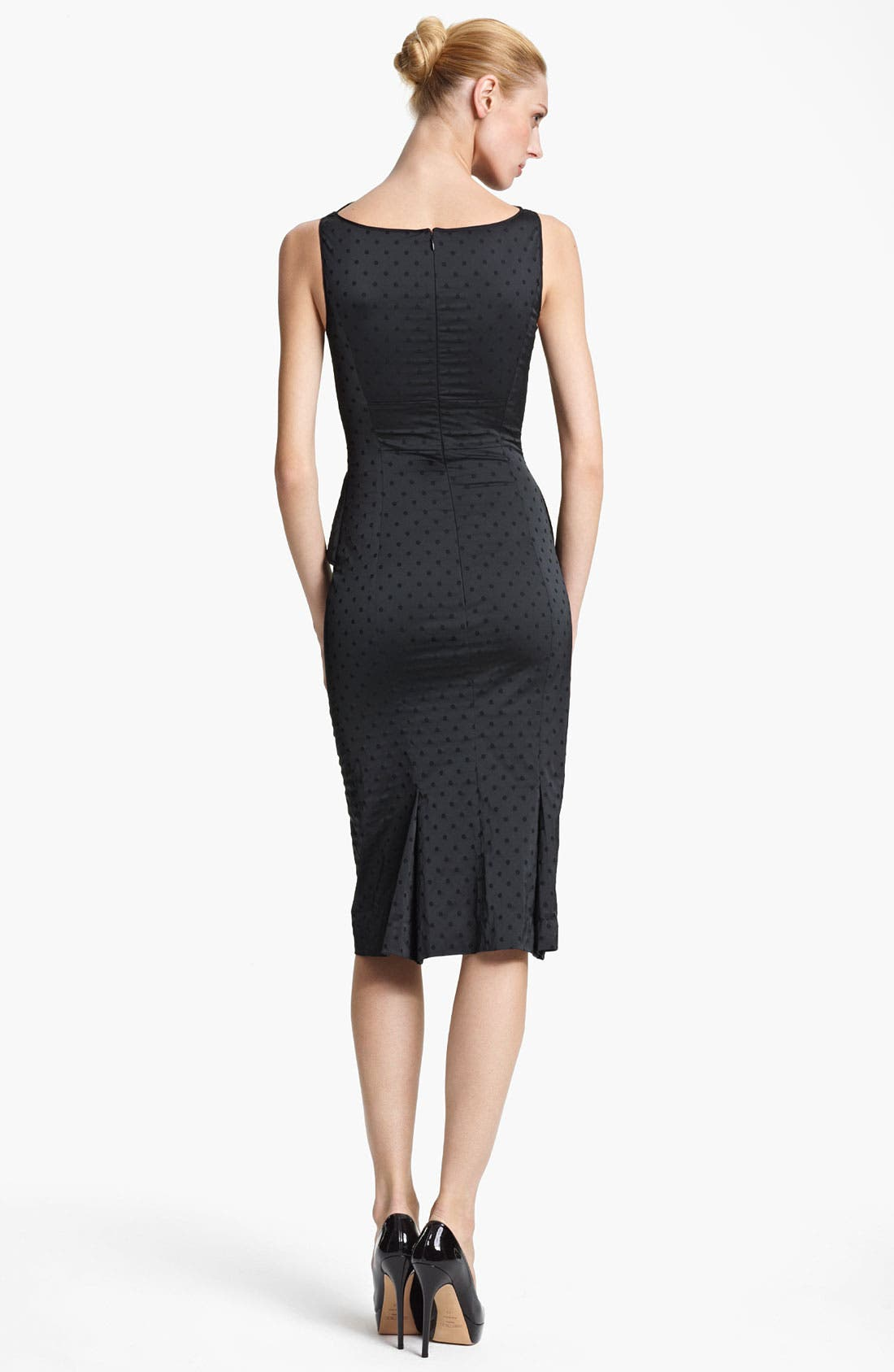 Alternate Image 2  - Nina Ricci Jacquard Peplum Dress