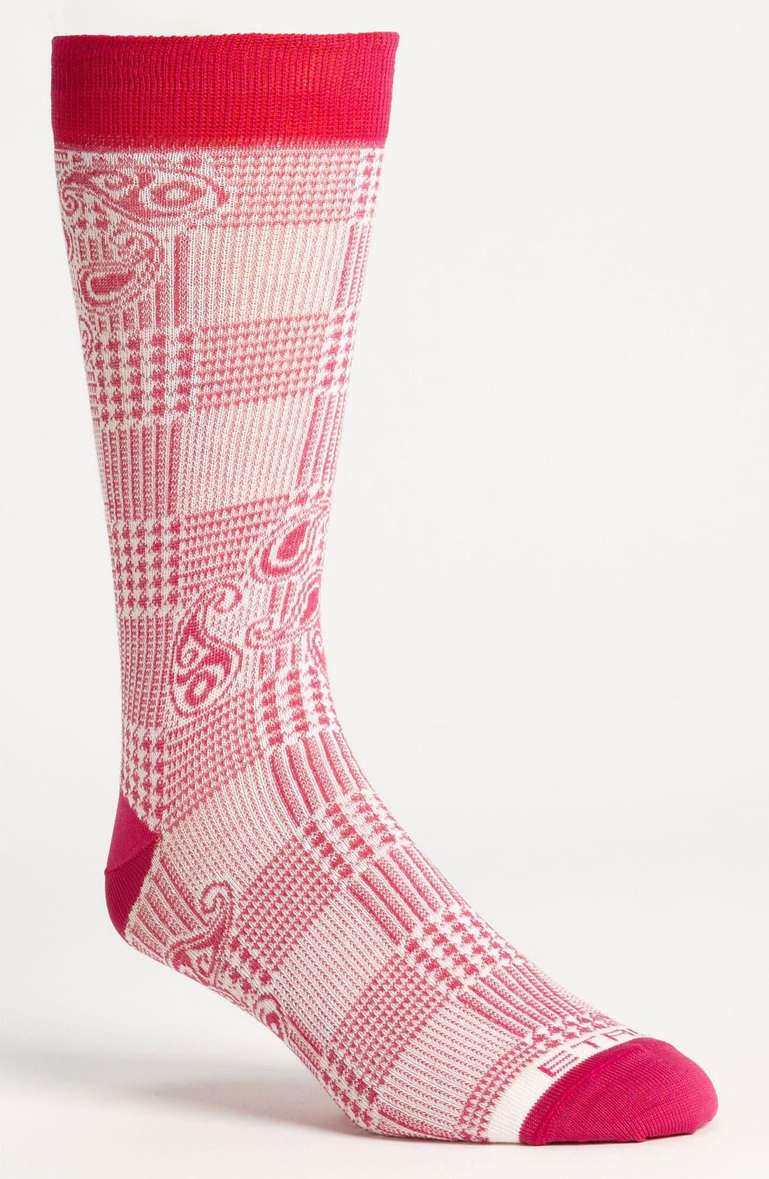 Alternate Image 1 Selected - Etro Herringbone Paisley Socks