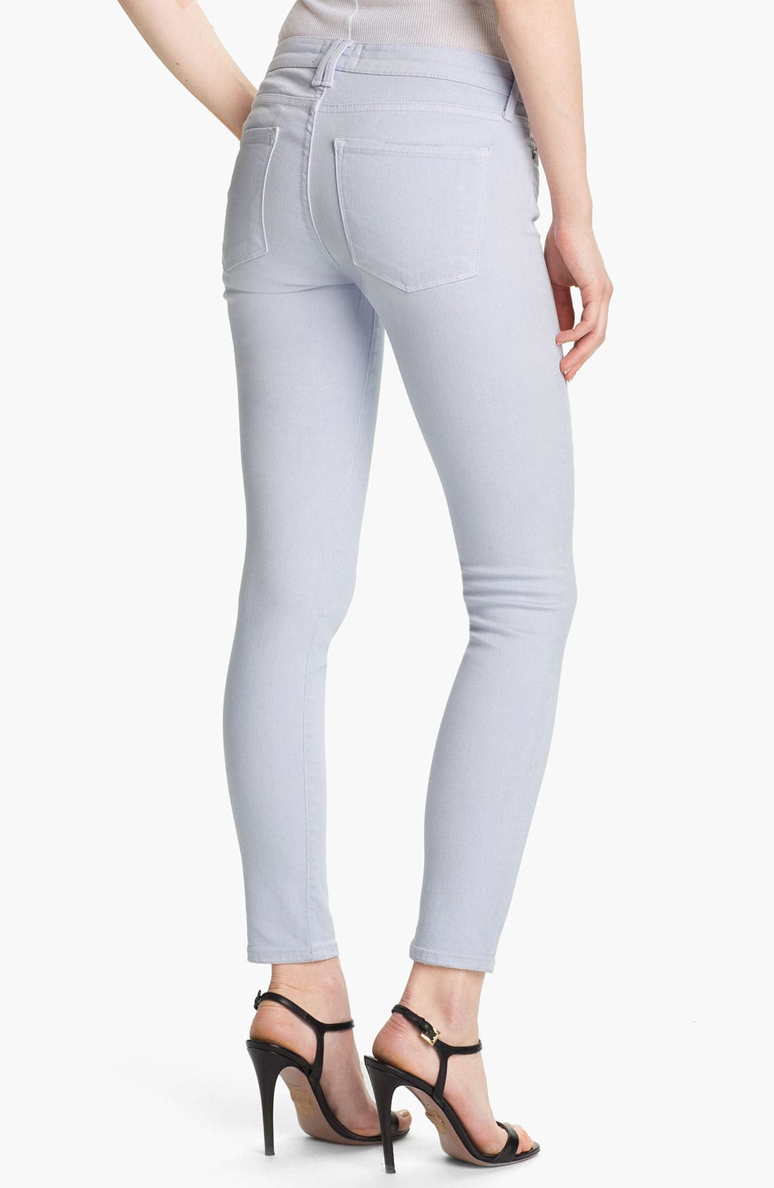 Alternate Image 2  - Vince Colored Skinny Stretch Ankle Jeans (Lilac)
