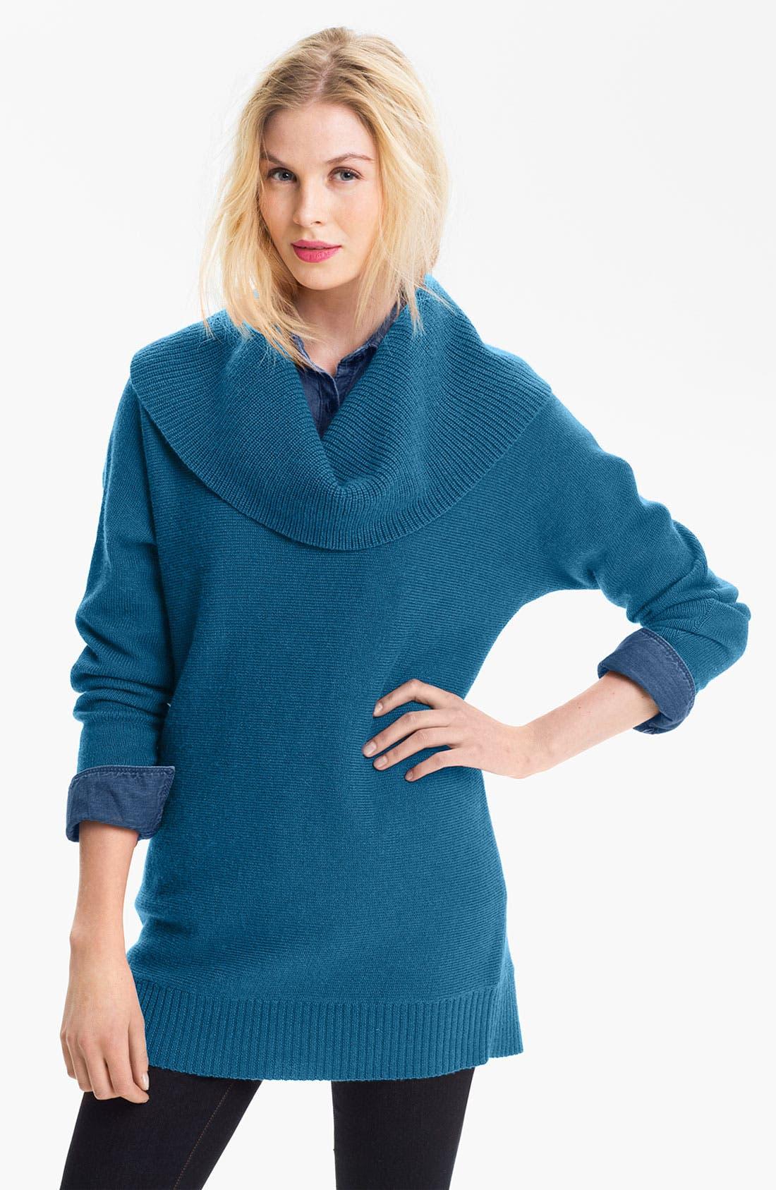 Main Image - Caslon® Cowl Neck Dolman Sweater (Petite)