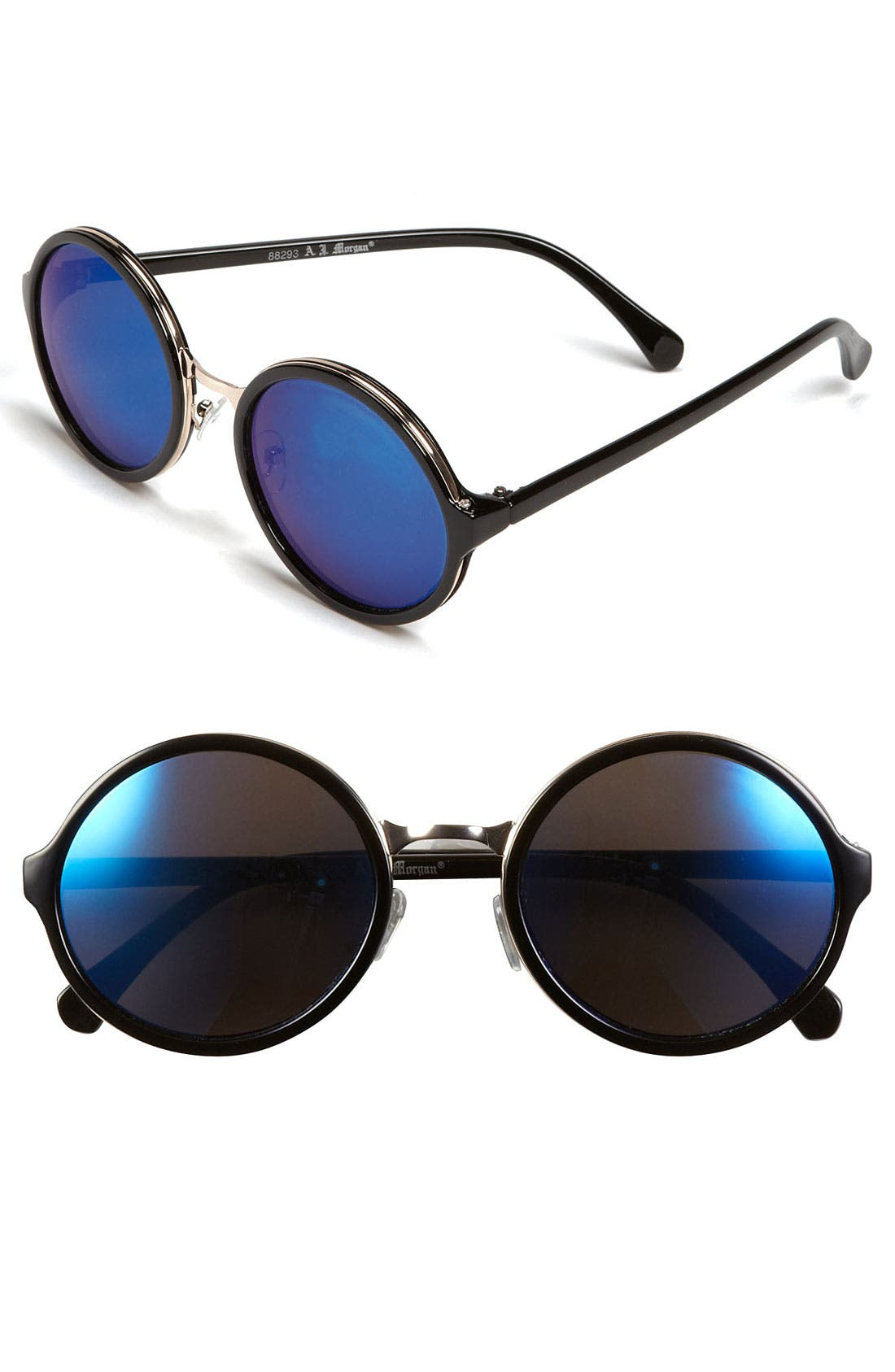 Main Image - A.J. Morgan 52mm Retro Round Sunglasses