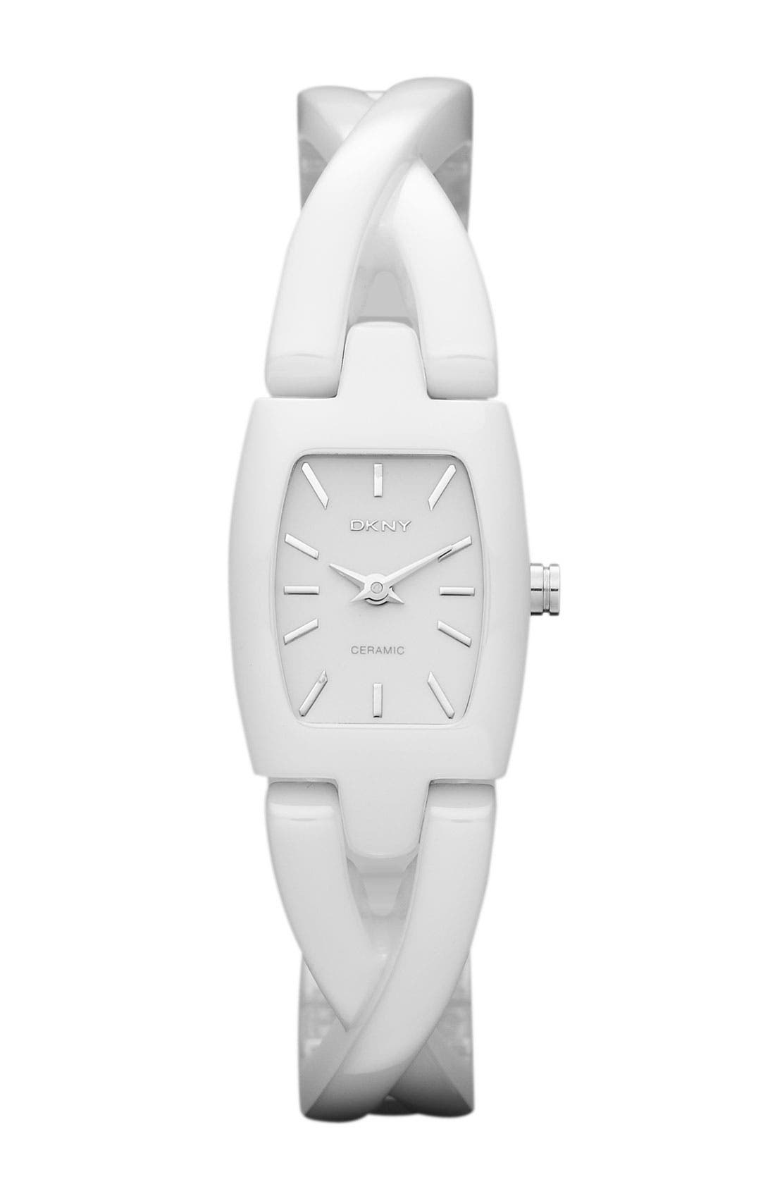 Alternate Image 1 Selected - DKNY Crossover Ceramic Bangle Watch