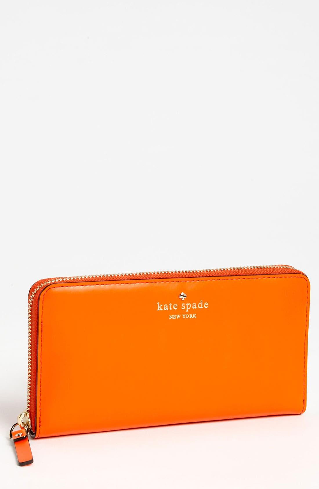Main Image - kate spade new york 'tudor city - lacey' zip around wallet