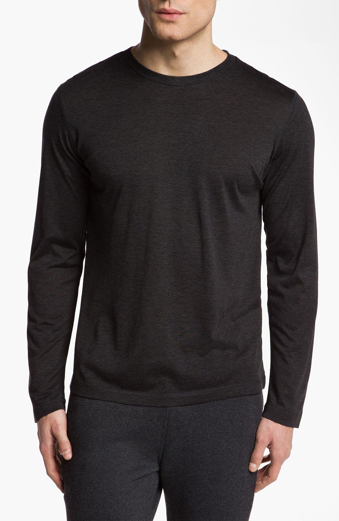 Alternate Image 1 Selected - Daniel Buchler Silk & Cotton Long Sleeve T-Shirt
