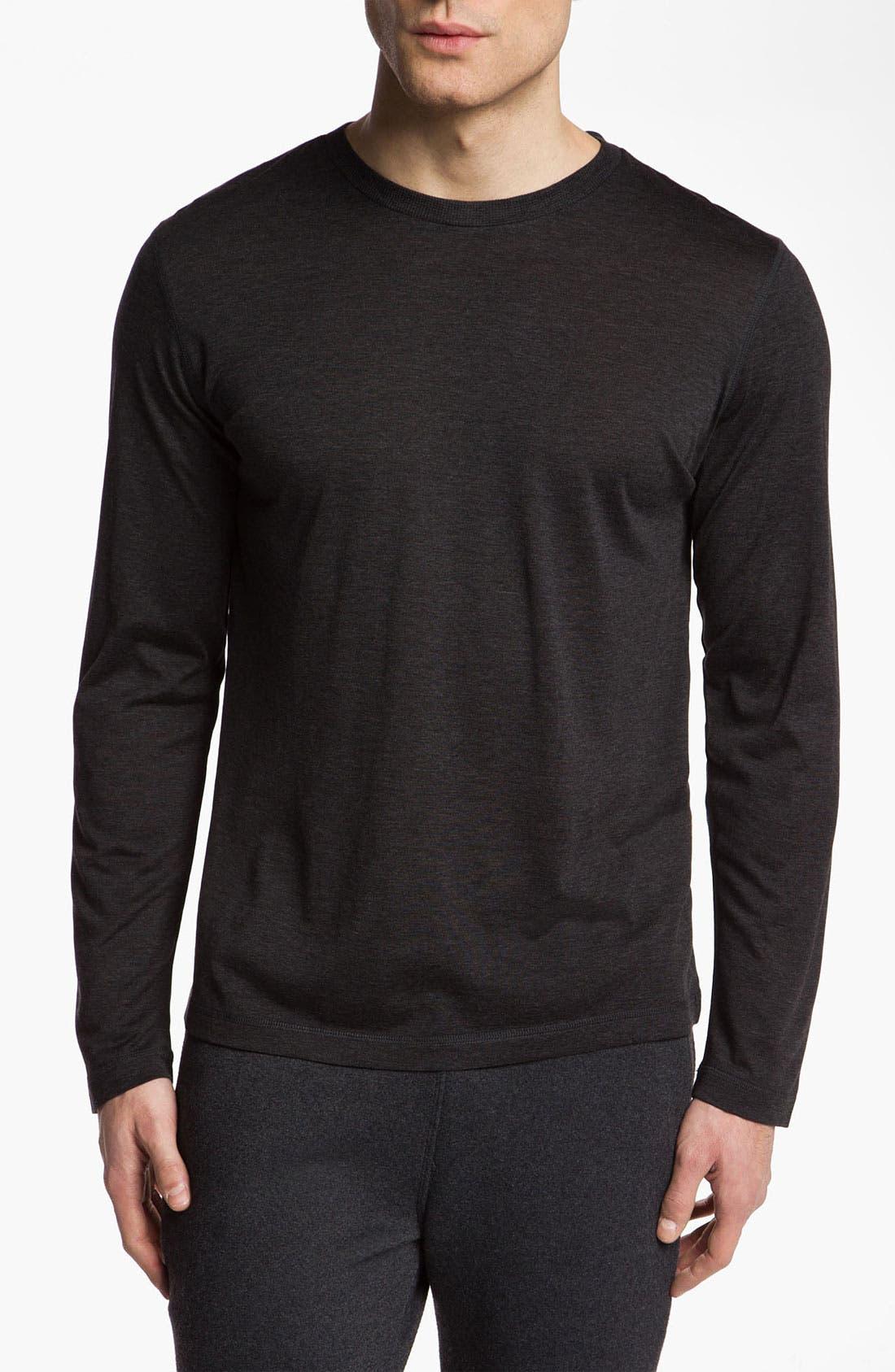 Main Image - Daniel Buchler Silk & Cotton Long Sleeve T-Shirt