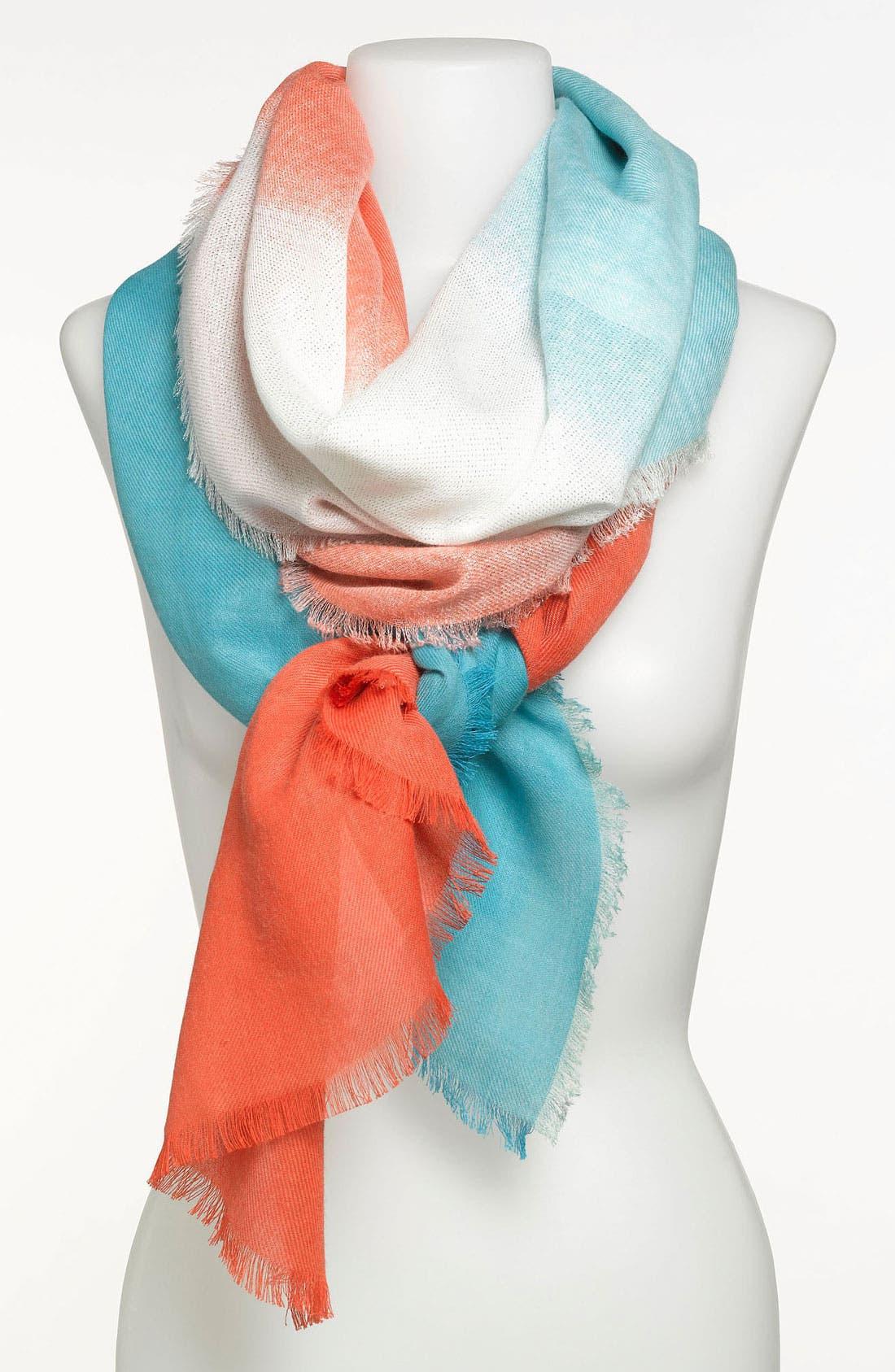 Main Image - Nordstrom Dip Dye Lurex® Wrap