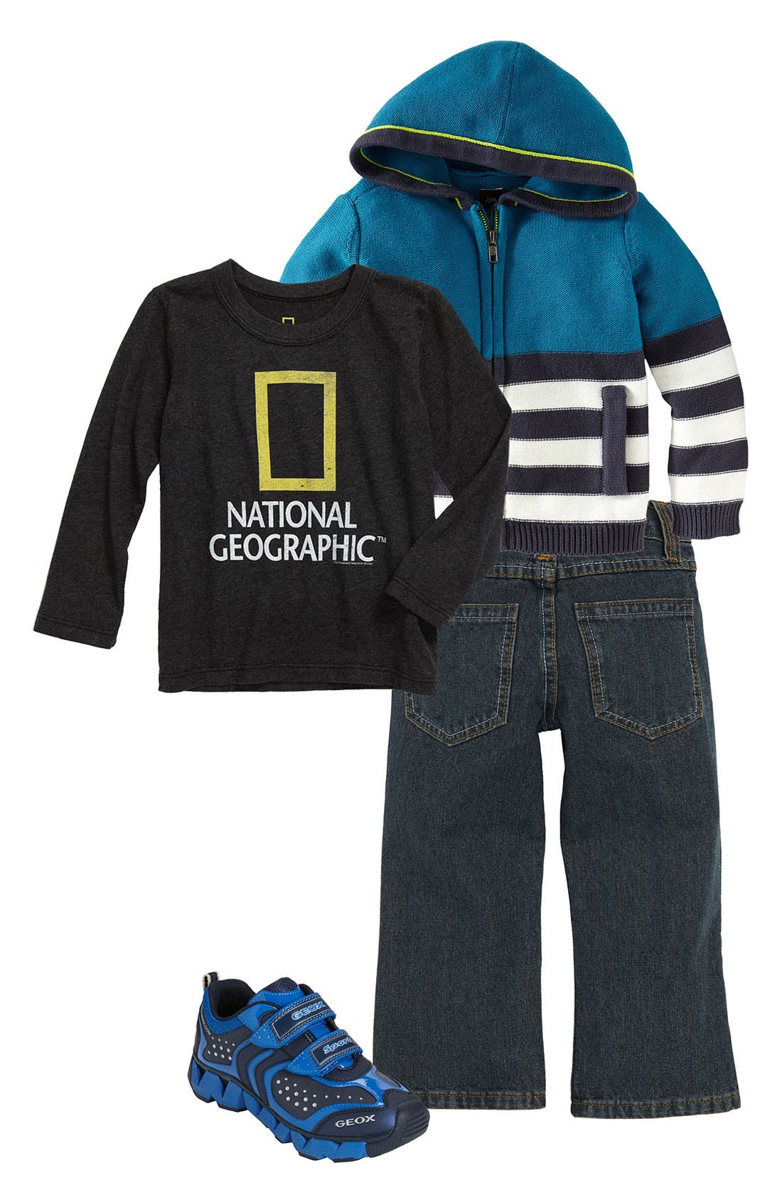 Alternate Image 1 Selected - Tea Collection Hoodie & Chaser T-Shirt (Toddler)