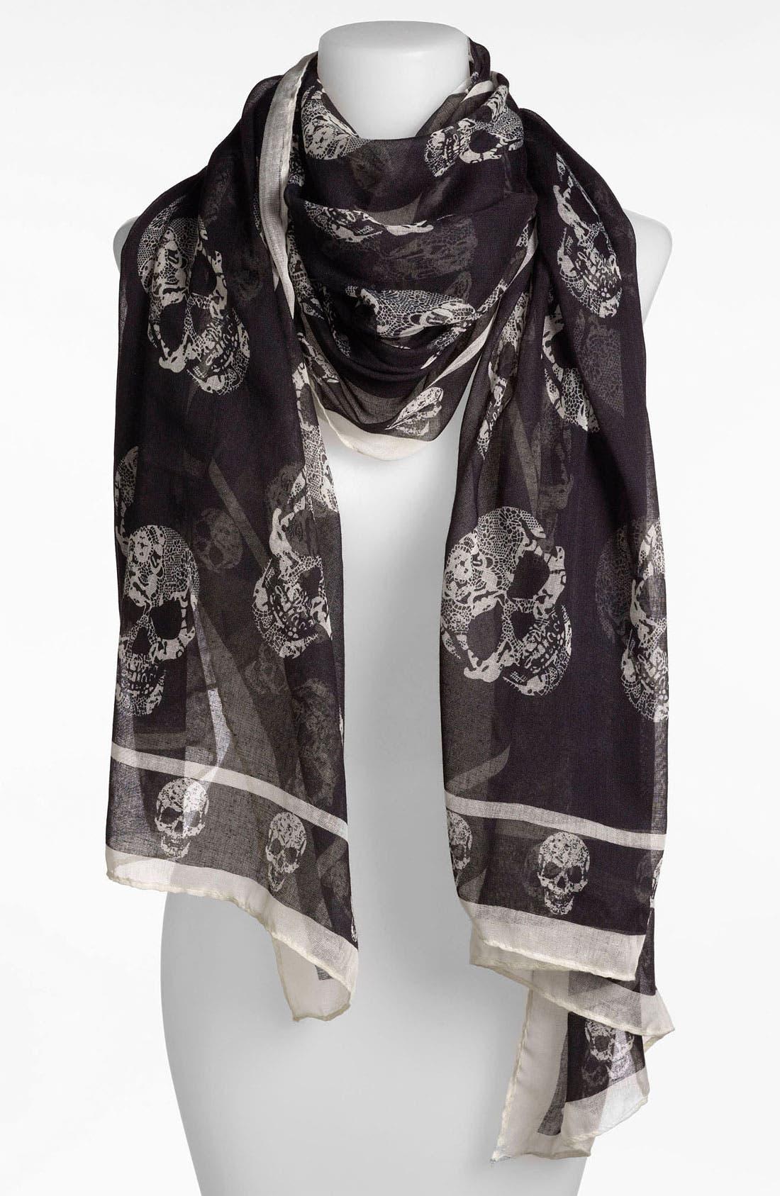 Main Image - BP. Sheer Skull Print Scarf