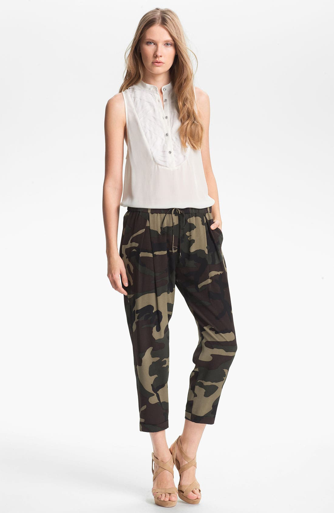 Alternate Image 4  - Haute Hippie Camo Print Drawstring Trousers
