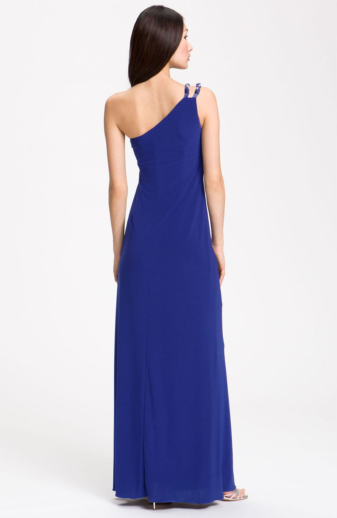 Alternate Image 2  - JS Boutique Knotted One Shoulder Dress