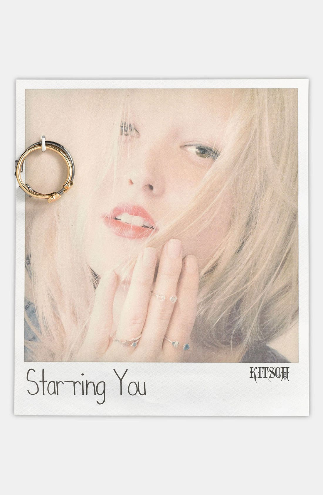 Alternate Image 1 Selected - Kitsch 'Star-ring You' Adjustable Rings