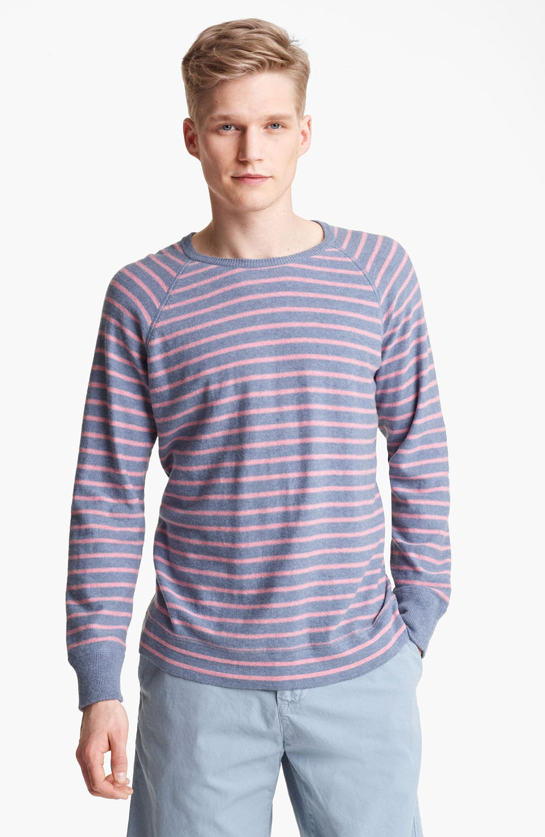 Alternate Image 1 Selected - Save Khaki Stripe Sweater