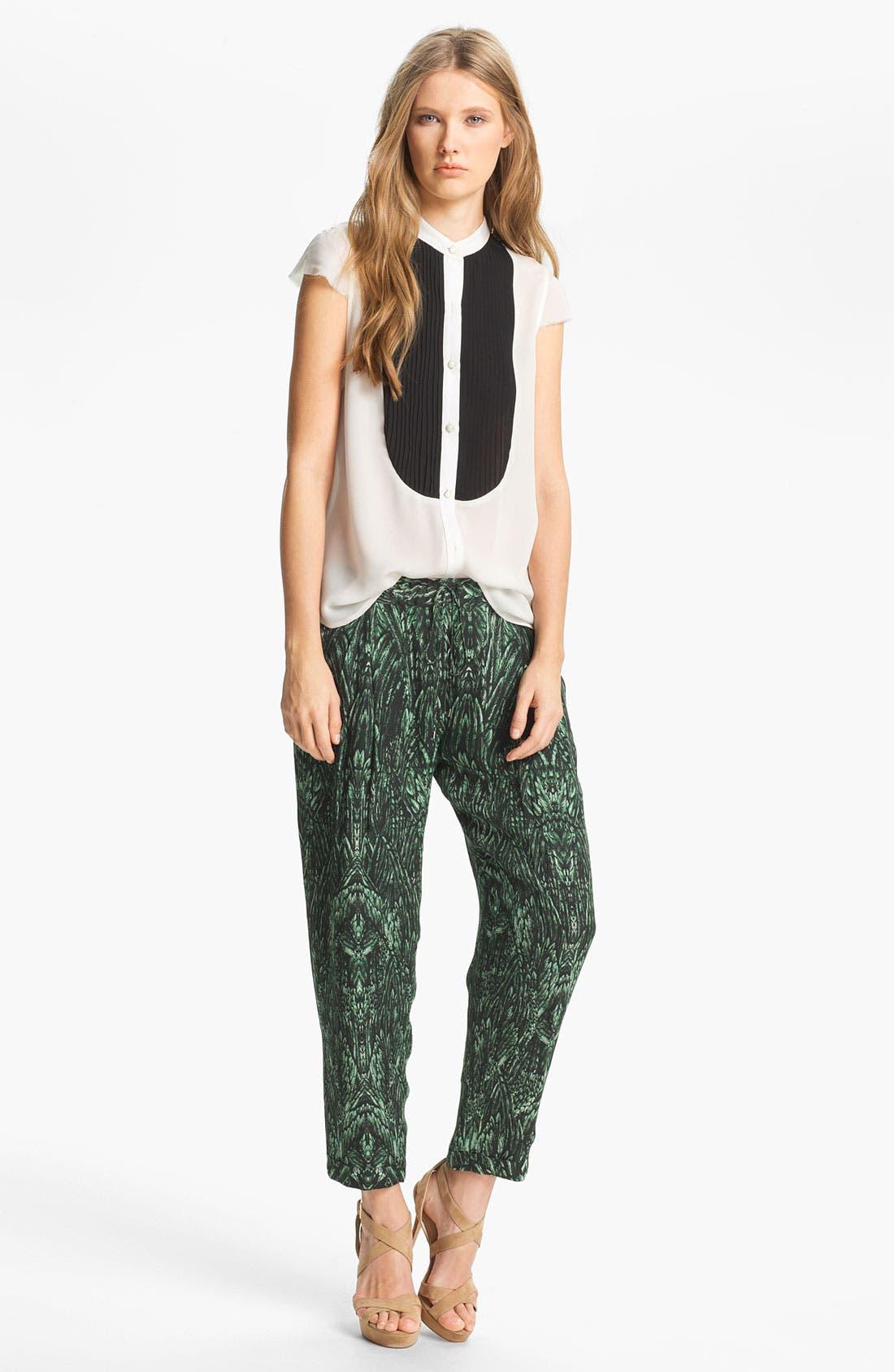 Alternate Image 3  - Haute Hippie Print Drawstring Trousers