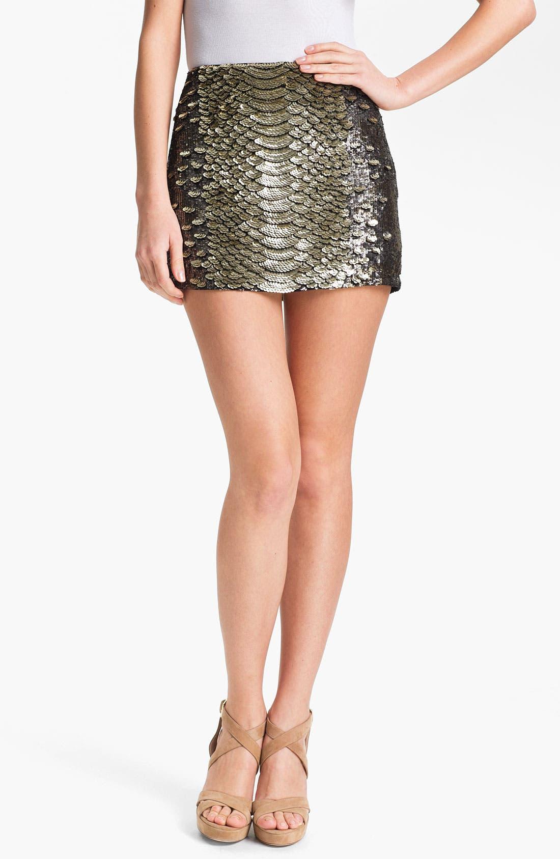 Alternate Image 1 Selected - Haute Hippie Sequin Miniskirt