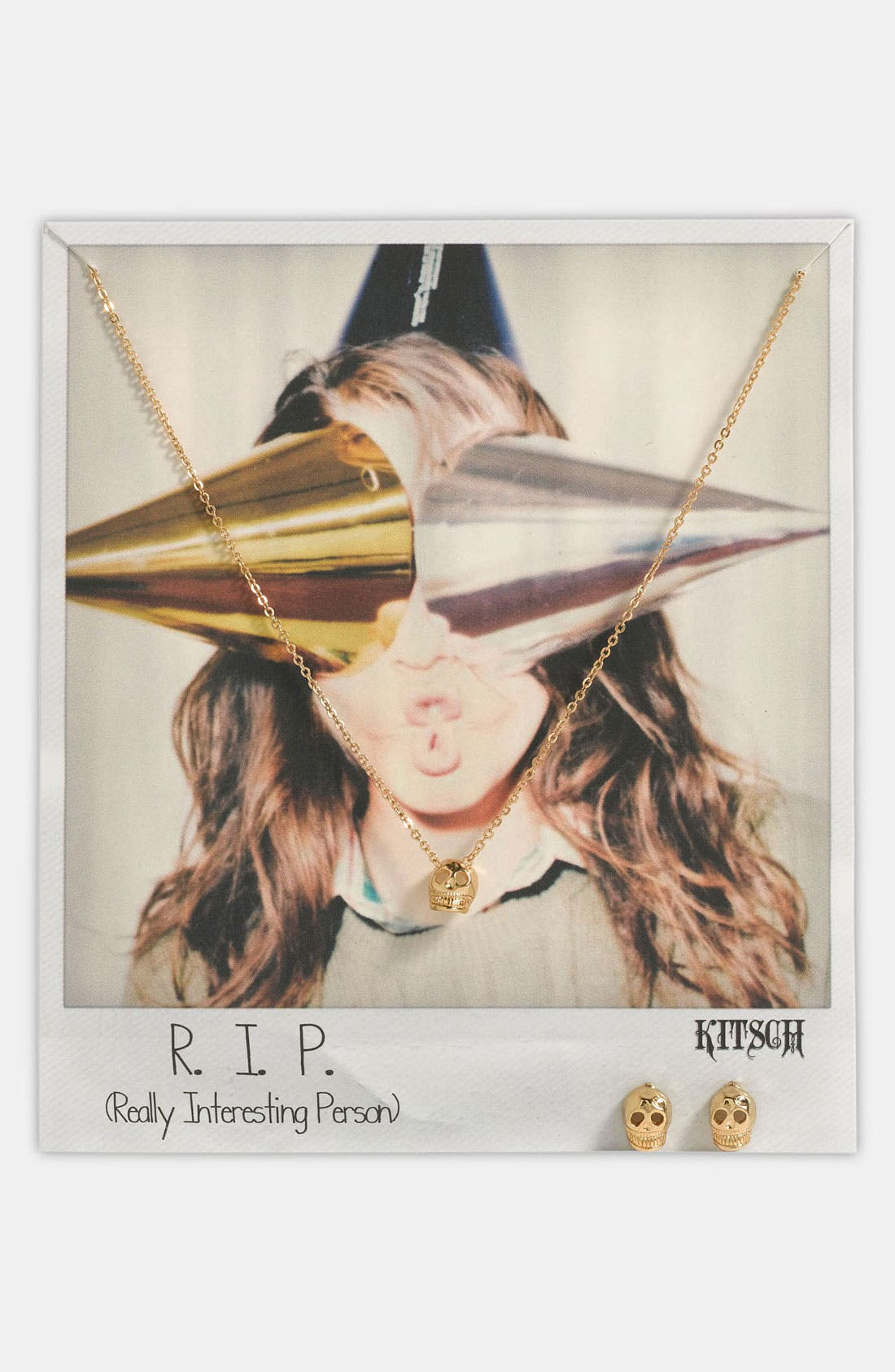 Main Image - Kitsch 'R.I.P.' Necklace & Earrings