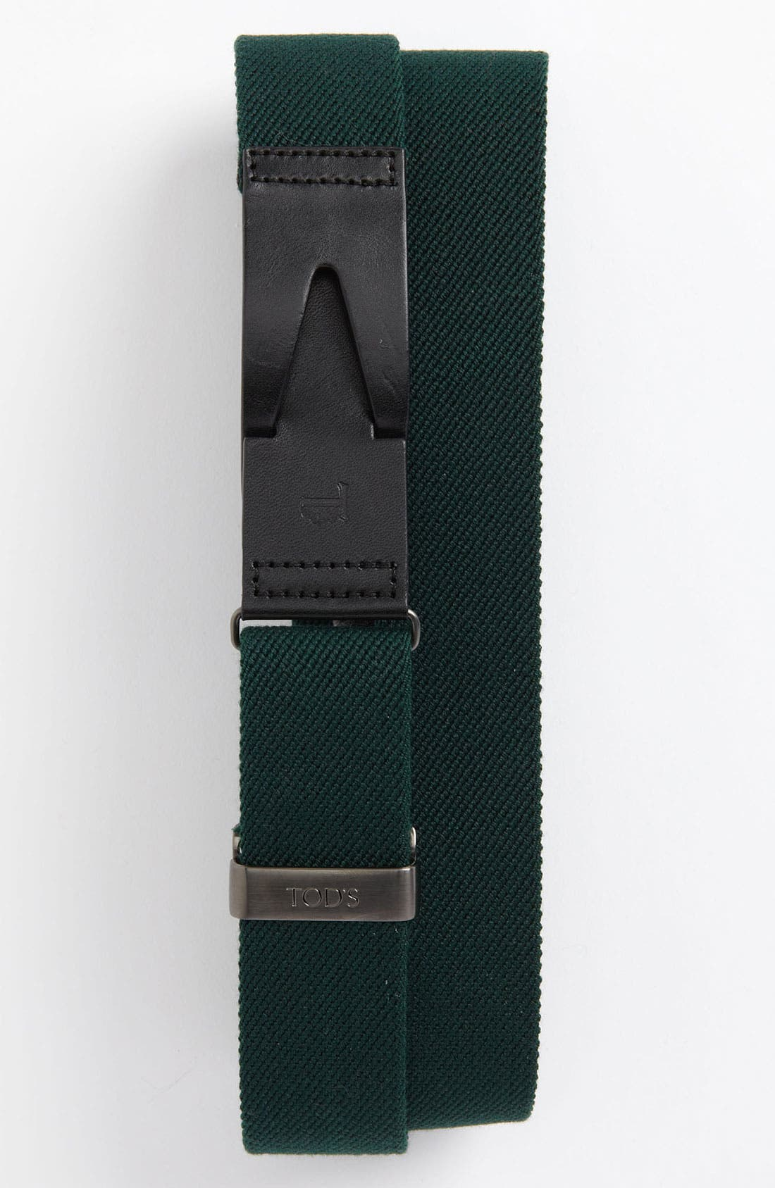 Alternate Image 1 Selected - Tod's Stretch Woven Belt with Leather Buckle