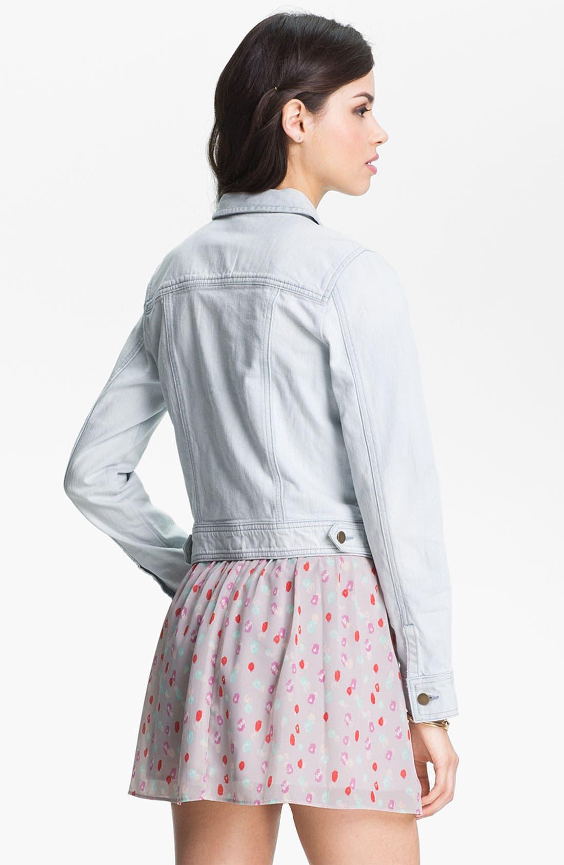 Alternate Image 3  - Rubbish® Vintage Denim Jacket (Juniors)