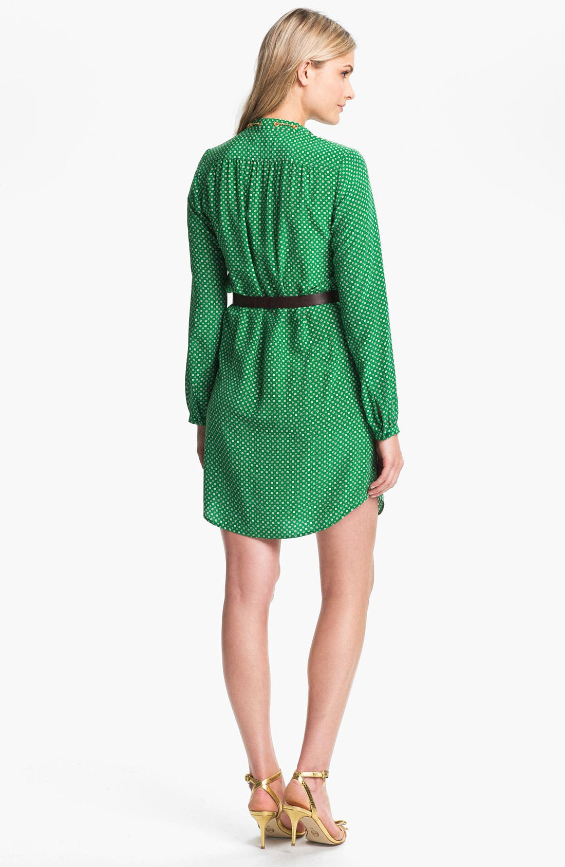 Alternate Image 2  - MICHAEL Michael Kors Chain Trim Shirtdress (Regular & Petite)