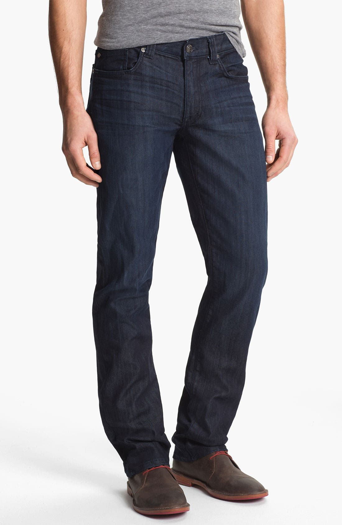 Alternate Image 1 Selected - Fidelity Denim 'Impala' Straight Leg Jeans (Varsity Dark)
