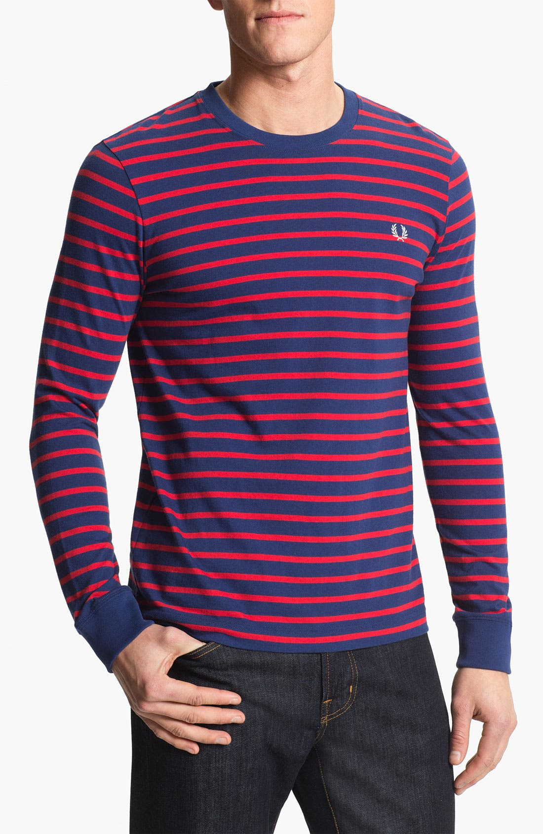 Main Image - Fred Perry Crewneck T-Shirt