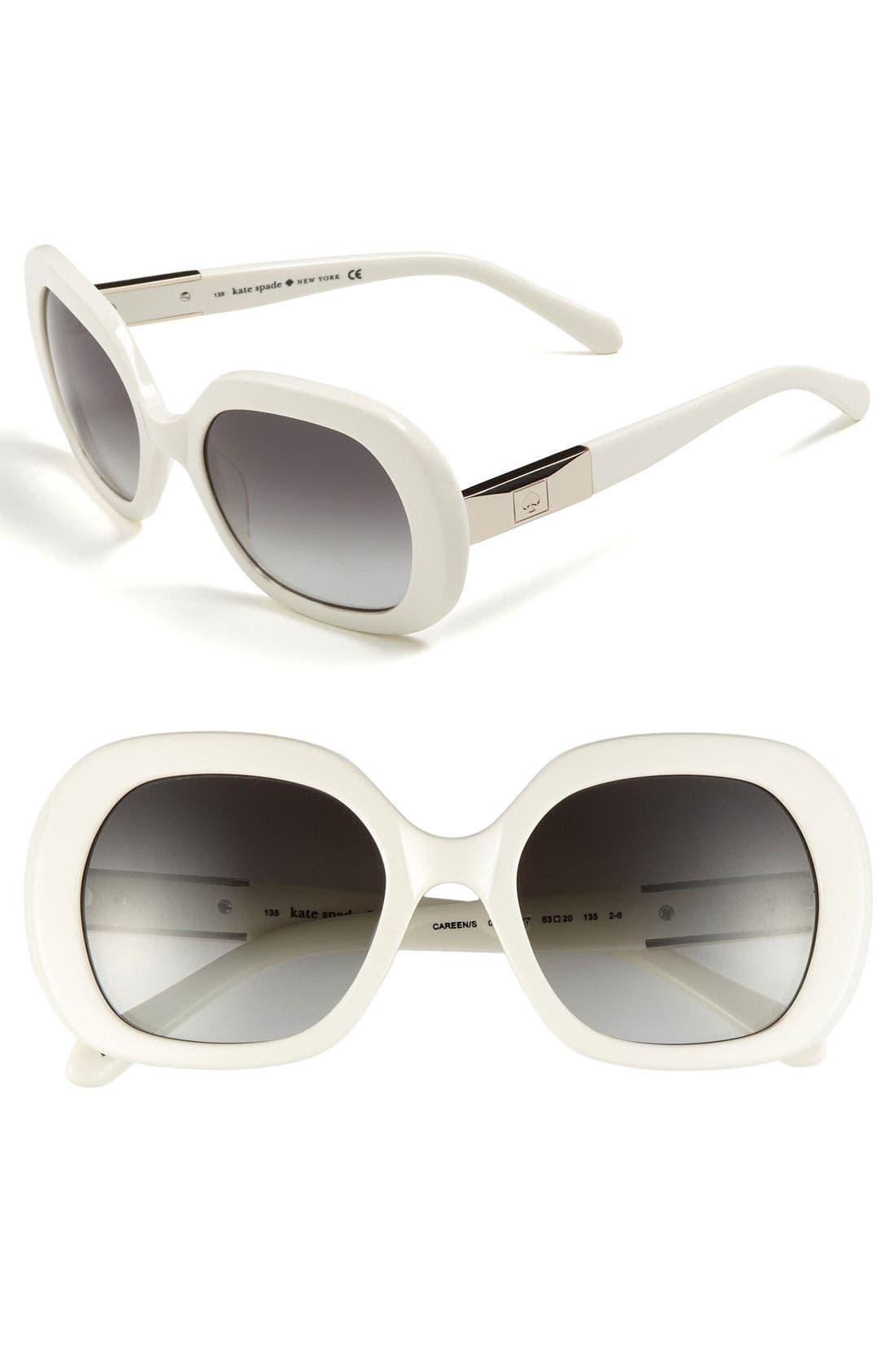 Alternate Image 1 Selected - kate spade new york 'careen' 53mm sunglasses