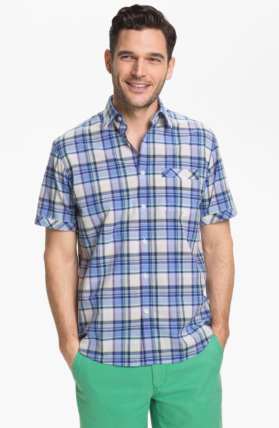 Main Image - James Campbell 'Odell Plaid' Sport Shirt