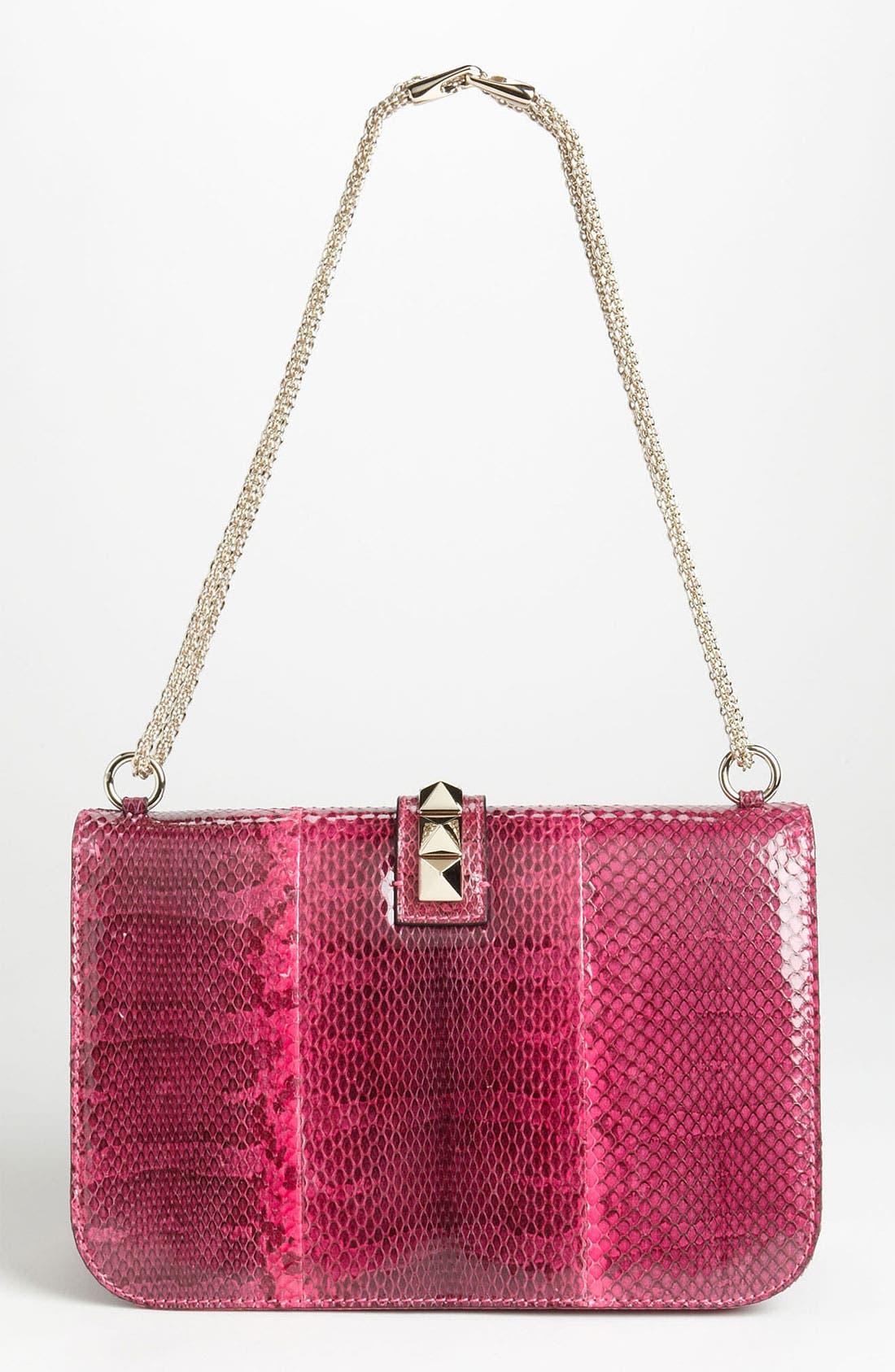 Alternate Image 4  - Valentino 'Lock - Medium' Genuine Snakeskin Shoulder Bag