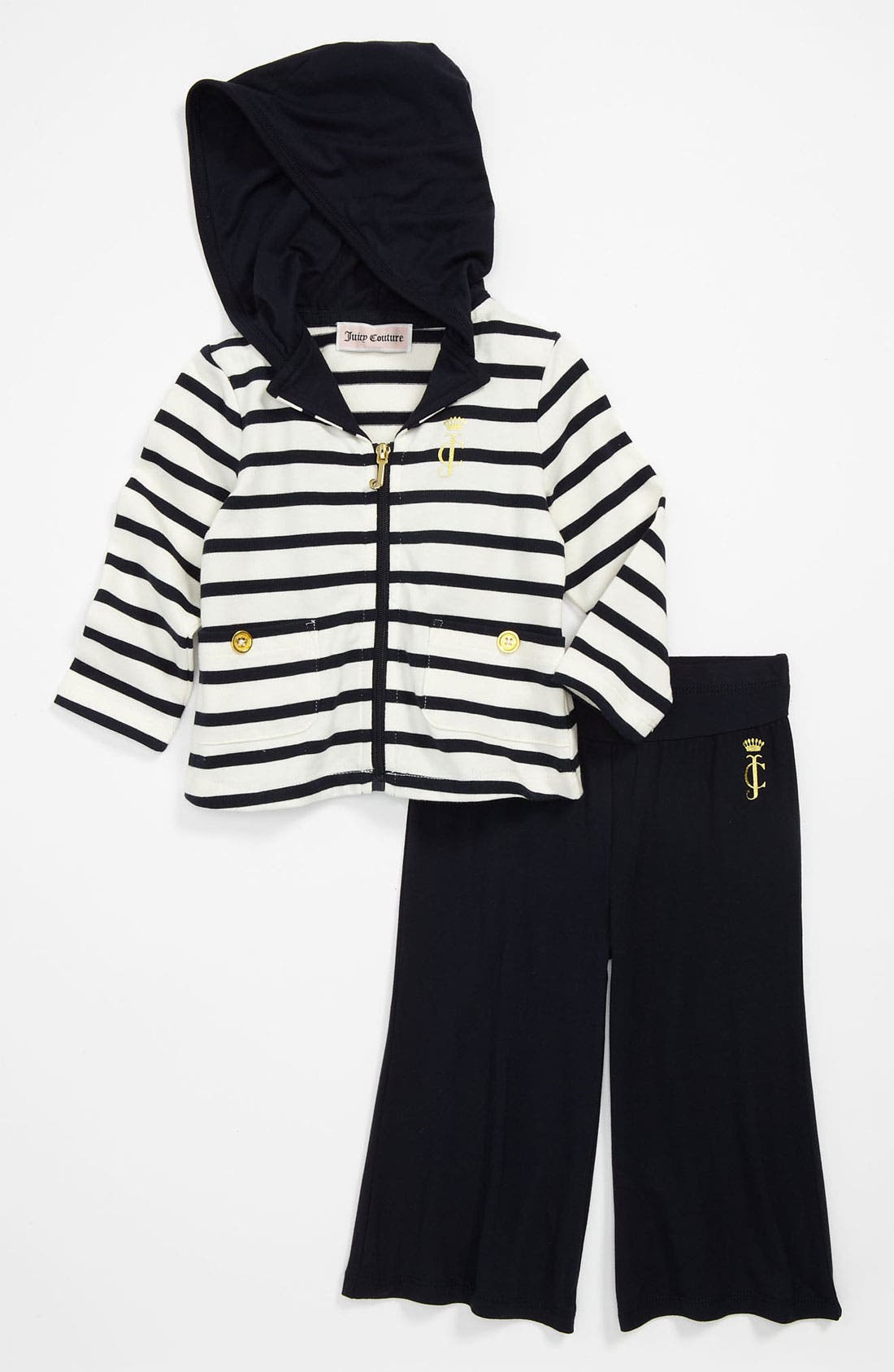 Alternate Image 1 Selected - Juicy Couture Hoodie & Pants (Infant)