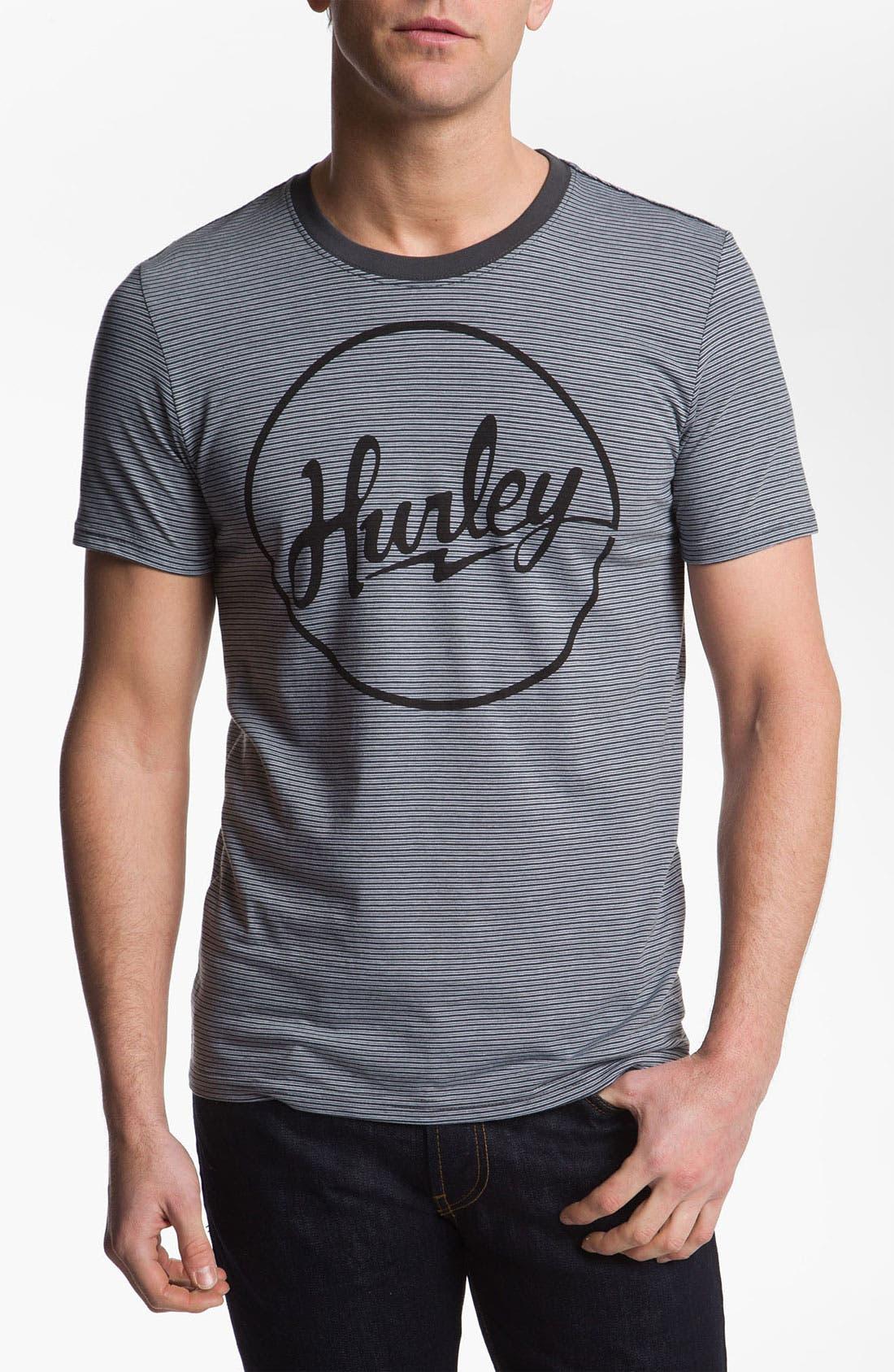 Alternate Image 1 Selected - Hurley 'Pick Up - Olson Stripe' T-Shirt