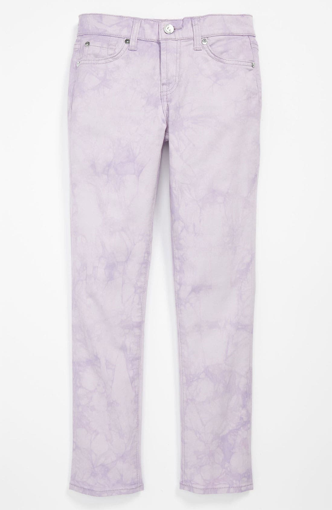 Alternate Image 2  - 7 For All Mankind® 'The Skinny' Color Jeans (Big Girls)