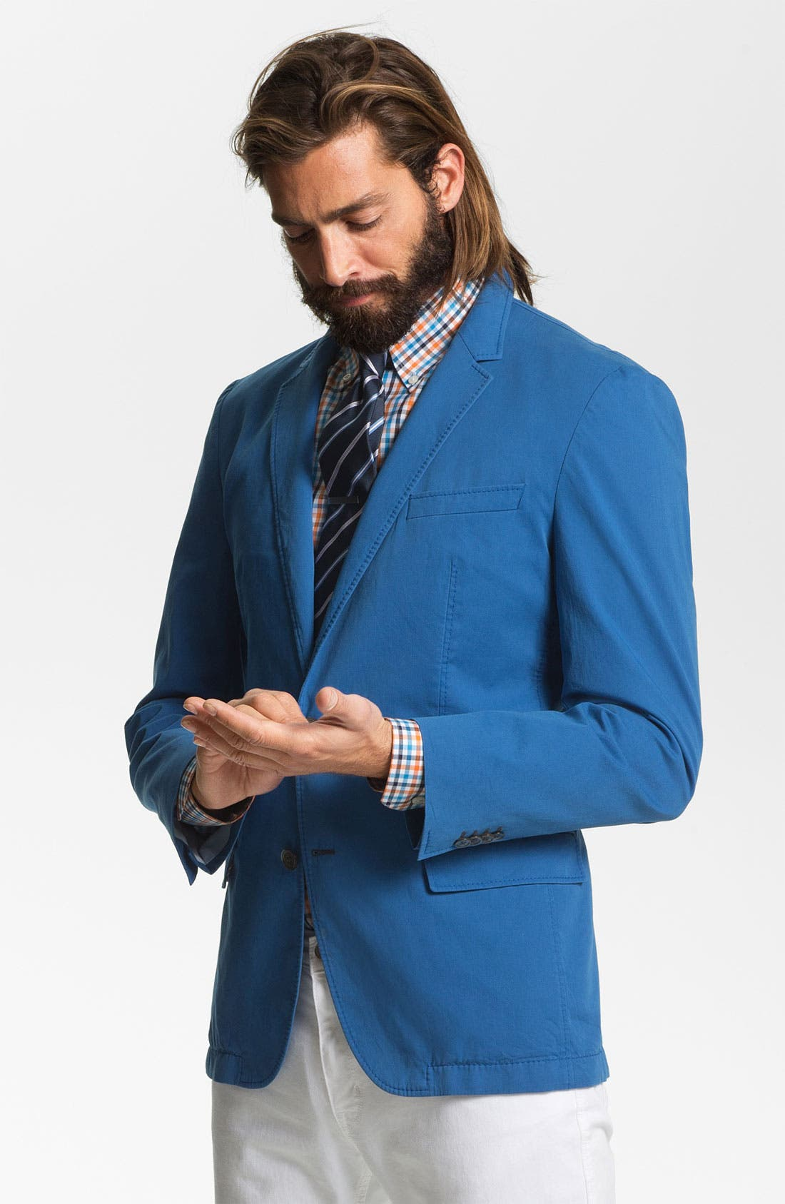 Main Image - BOSS HUGO BOSS 'Heaven' Trim Fit Cotton Blazer (Online Only)