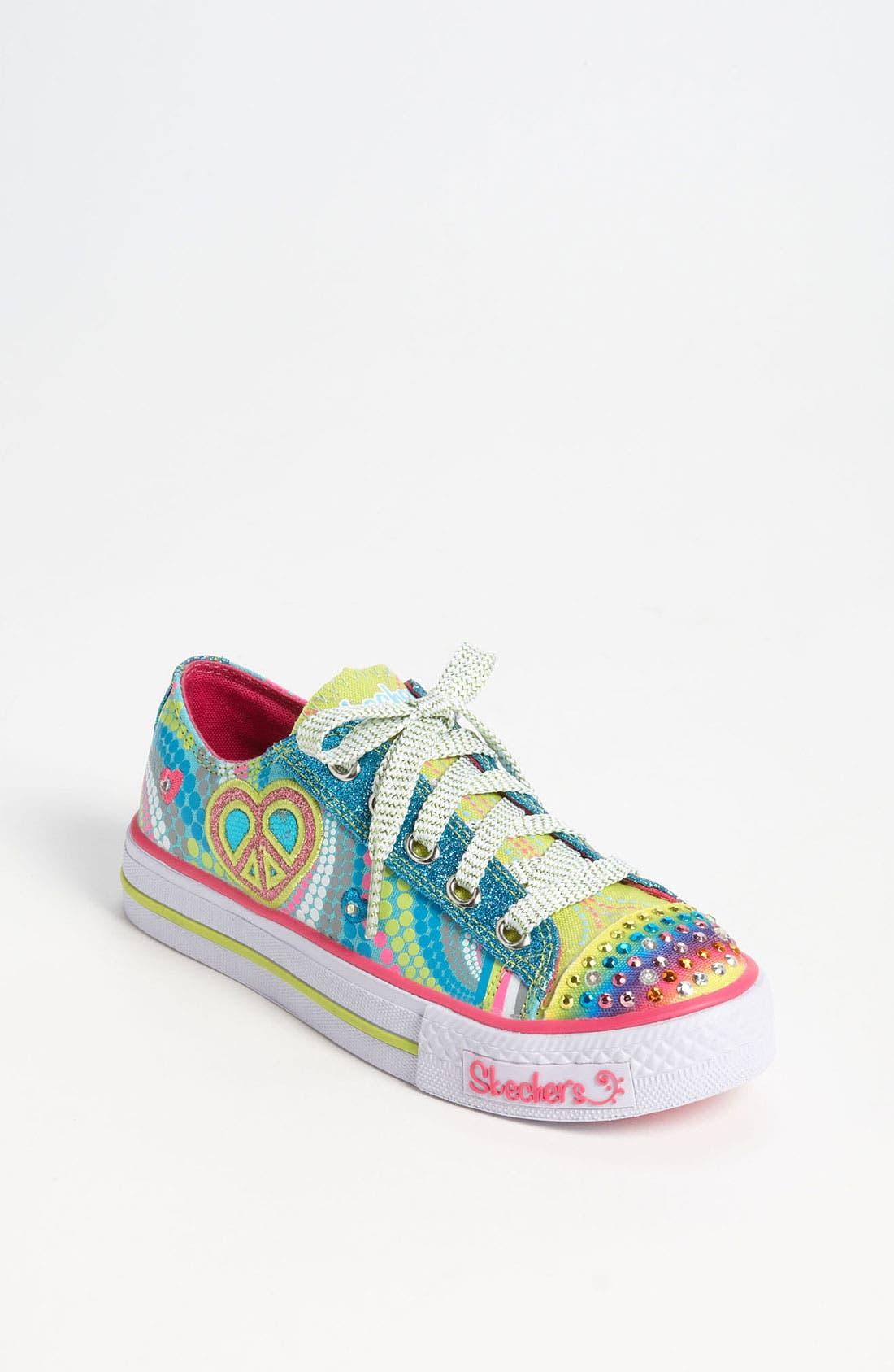 Main Image - SKECHERS 'Shuffles - Lights Heart Sparks' Sneaker (Toddler & Little Kid)