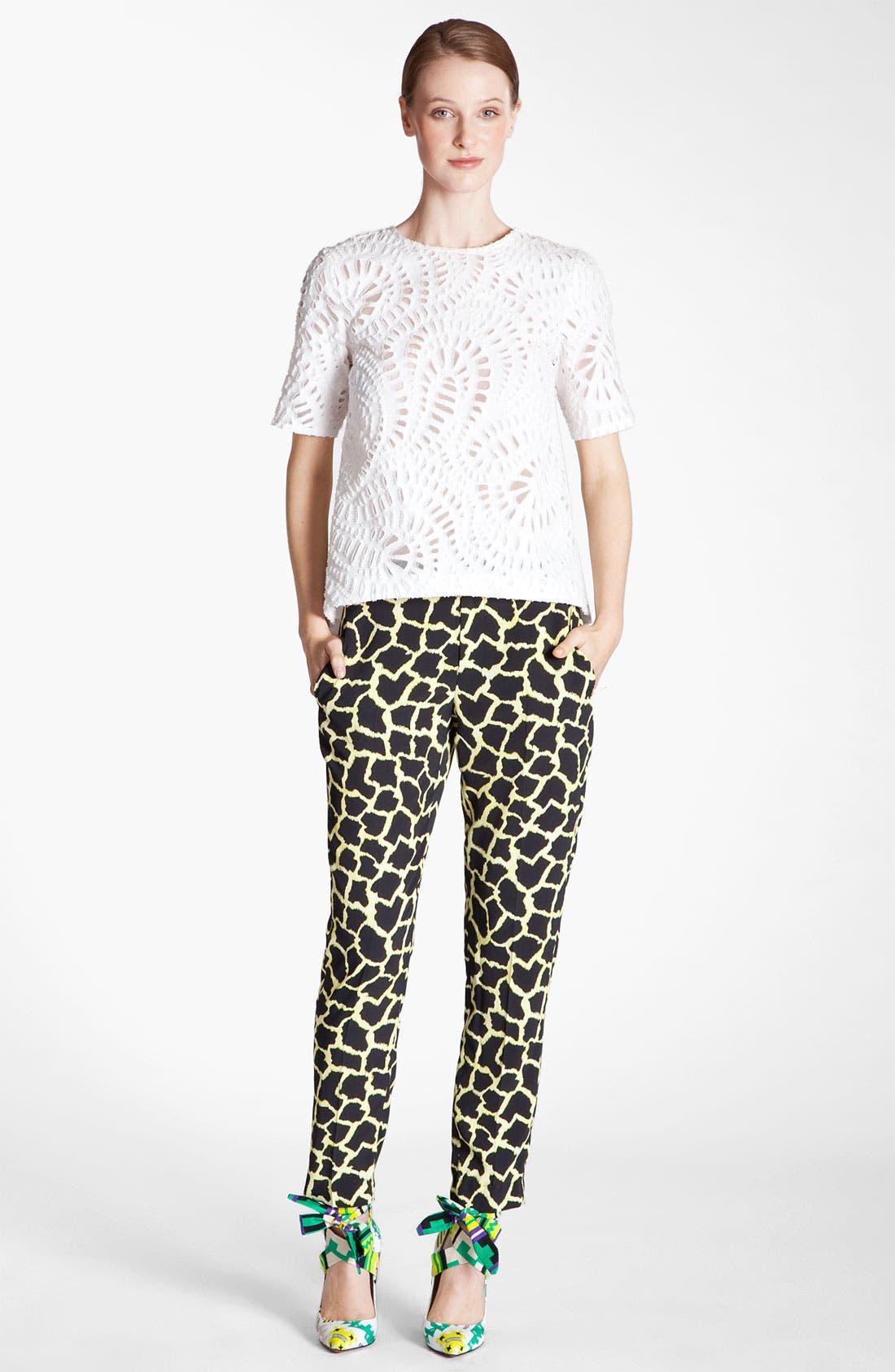 Alternate Image 6  - MSGM Giraffe Print Straight Leg Pants