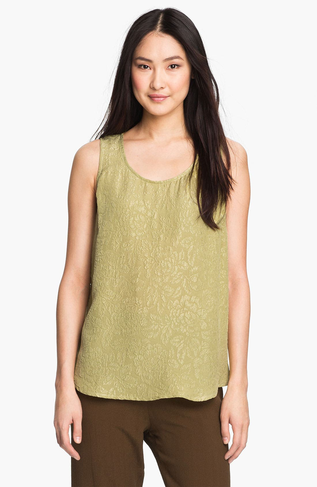 Alternate Image 1 Selected - Citron Flare Embossed Silk Tank