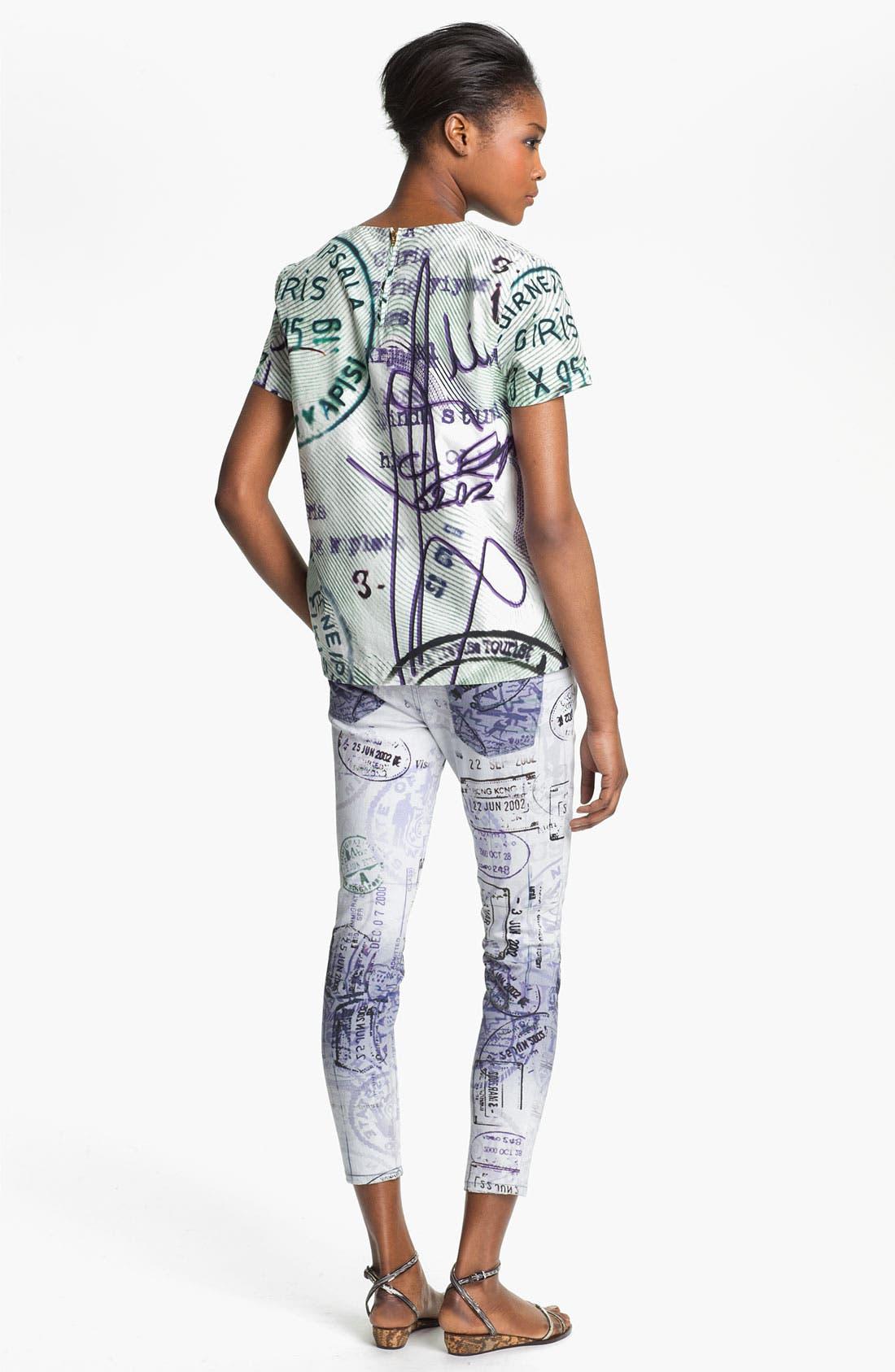 Alternate Image 3  - Mary Katrantzou Current/Elliott 'The Printed Stiletto' Jeans