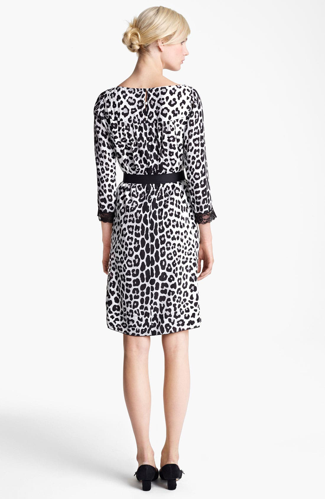 Alternate Image 2  - MARC JACOBS Belted Leopard Print Techno Dress