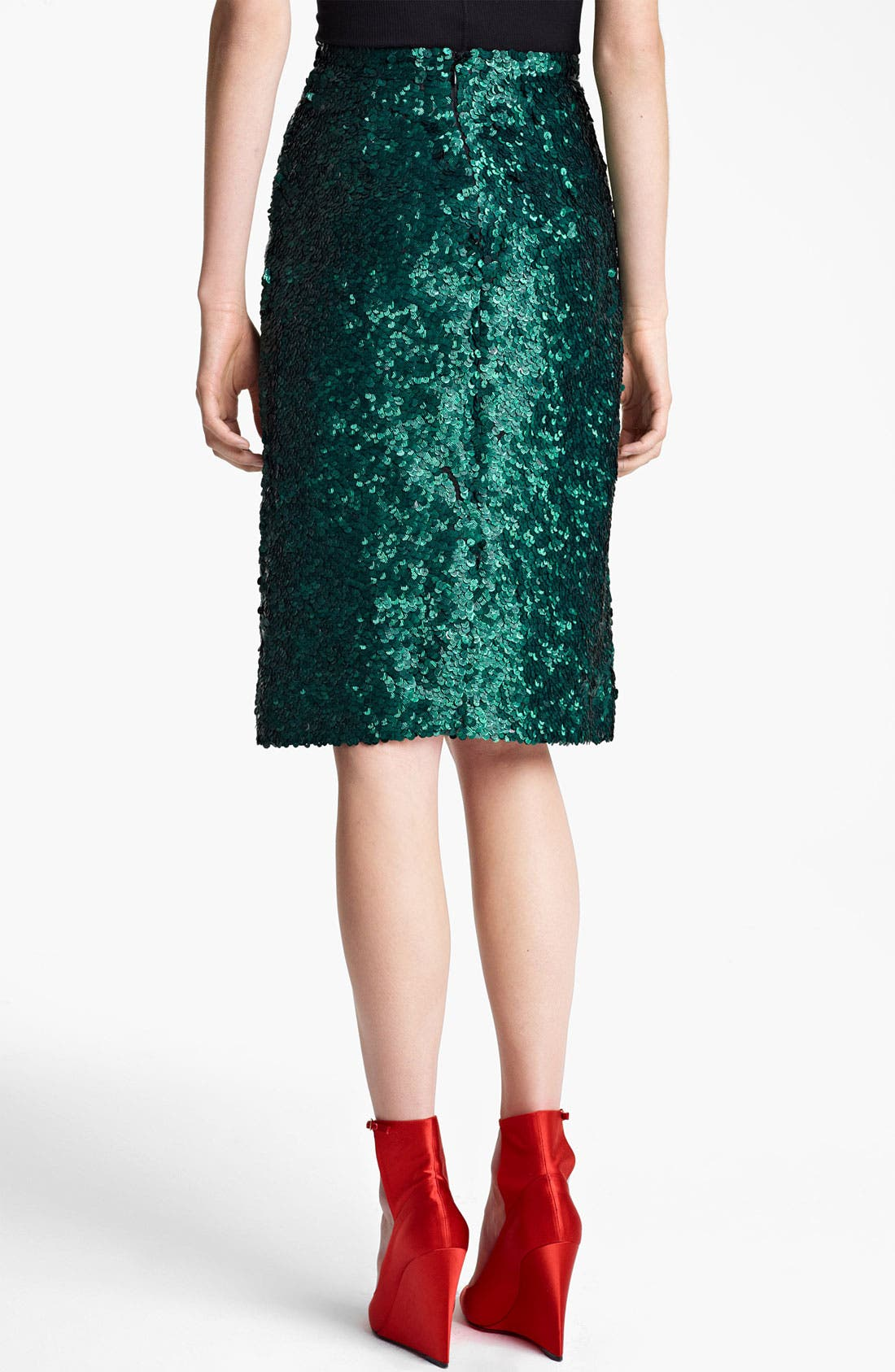 Alternate Image 4  - Burberry Prorsum Sequin Pencil Skirt