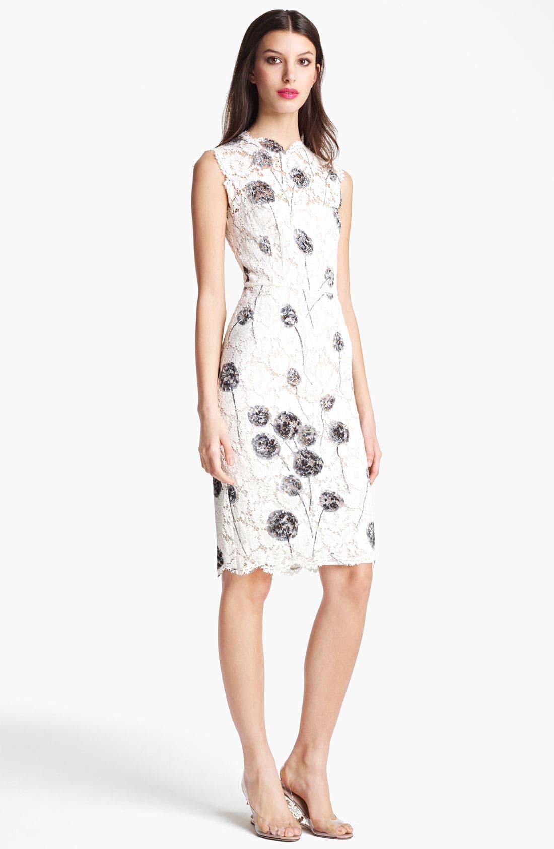 Alternate Image 1 Selected - Valentino Scalloped Edge Lace Dress