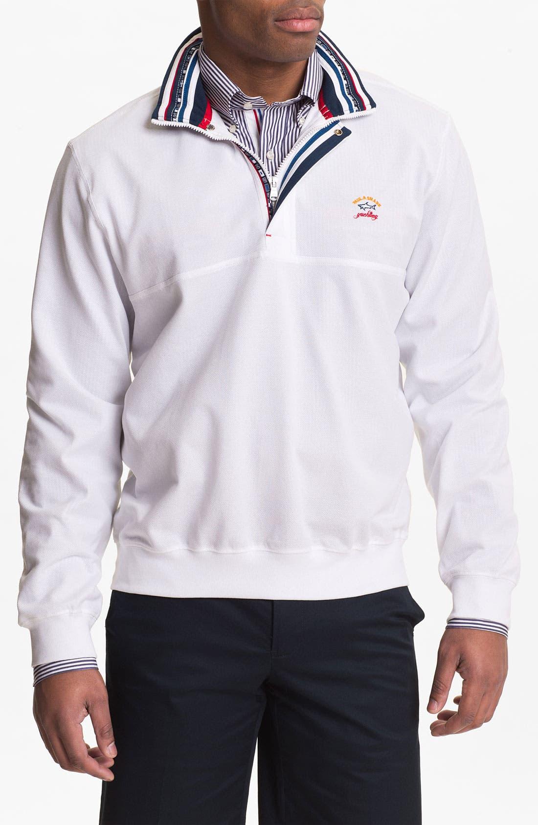 Alternate Image 1 Selected - Paul & Shark Quarter Zip Pique Sweater