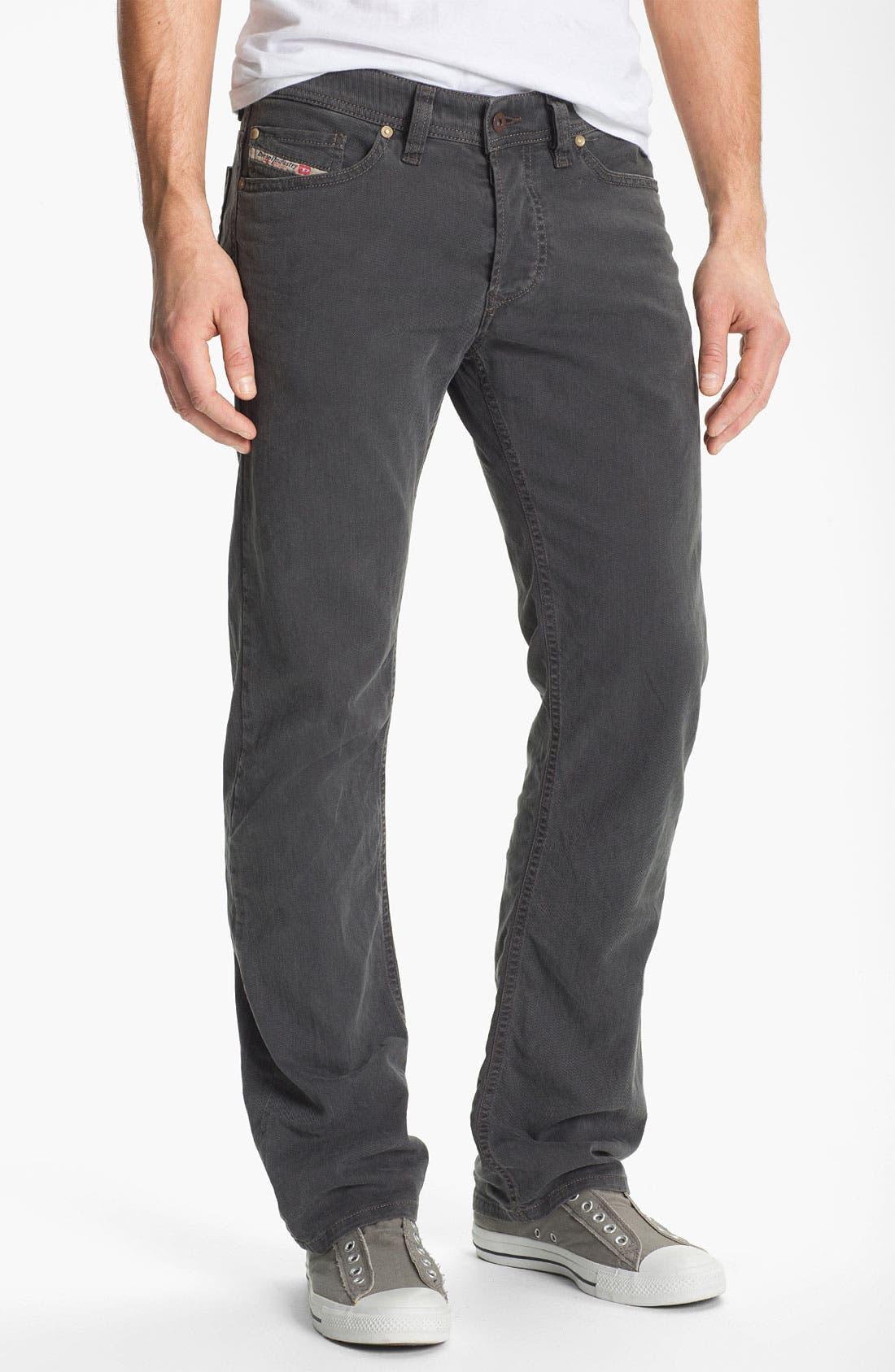 Alternate Image 2  - DIESEL® 'Viker' Straight Leg Jeans (Grey)